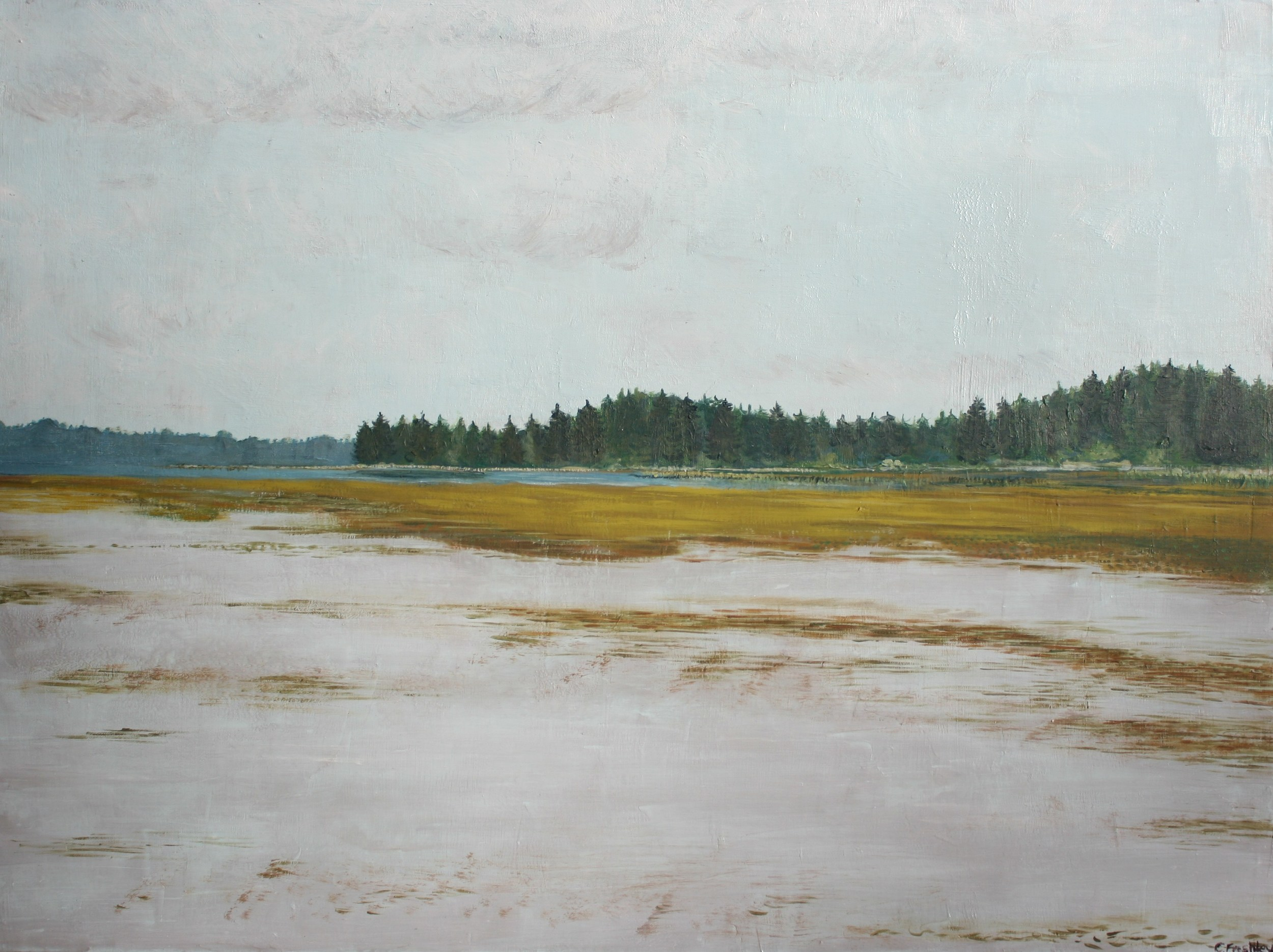 "Willapa Bay Mudflats - 30""x40"" - SOLD"