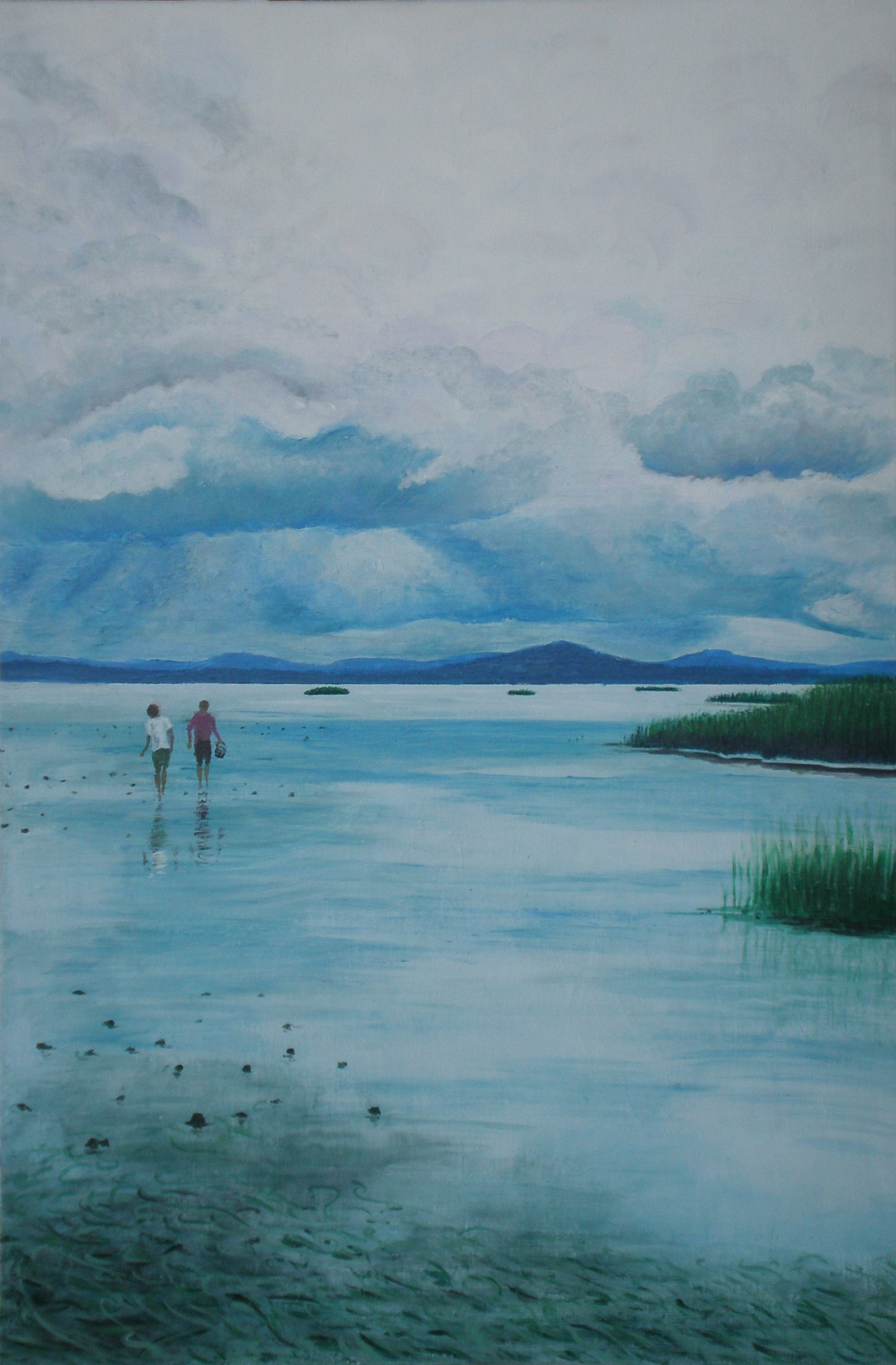 """Clamming in Willapa Bay - 24""""x36"""" - SOLD"""