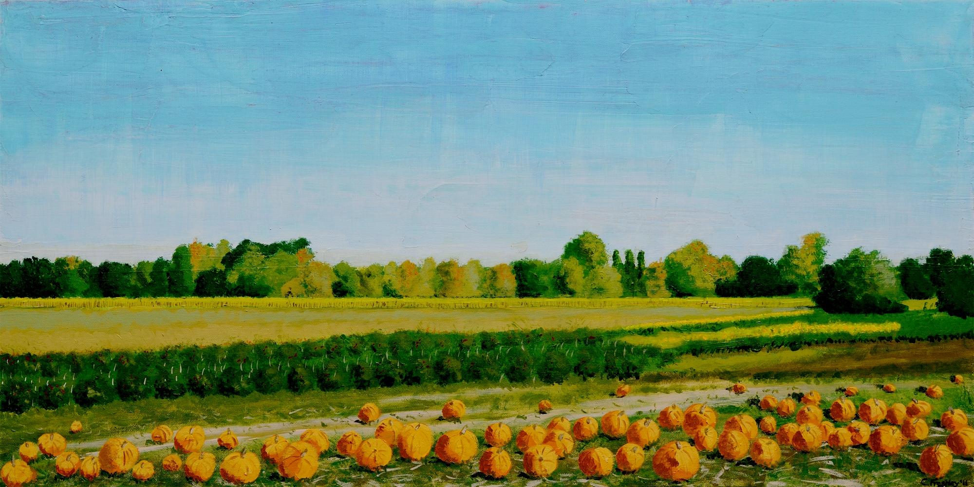 "Sauvie's Island Pumpkins - 15""x30"" - Not available"
