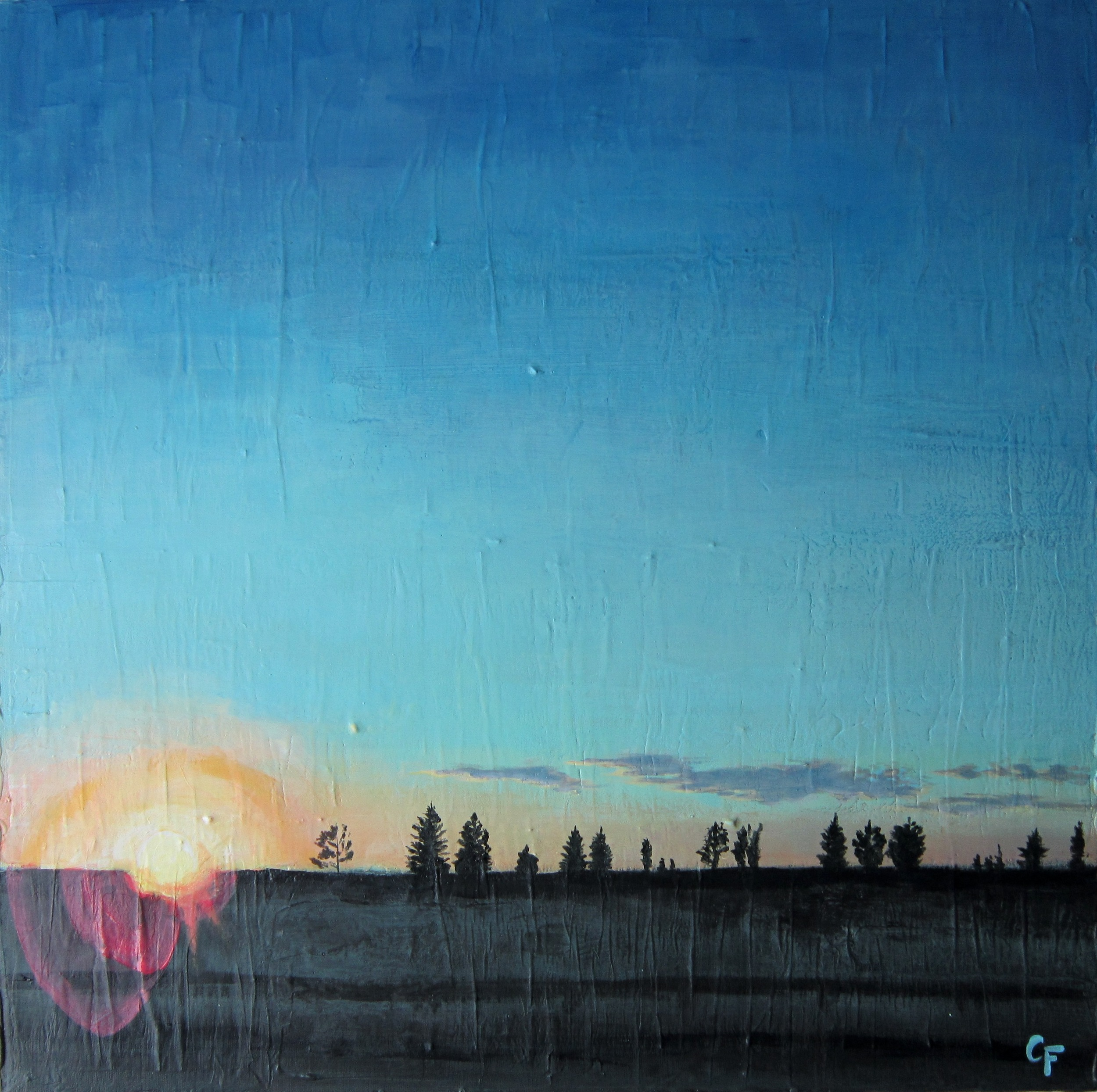 """Lens Flare - 24""""x24"""" - SOLD"""