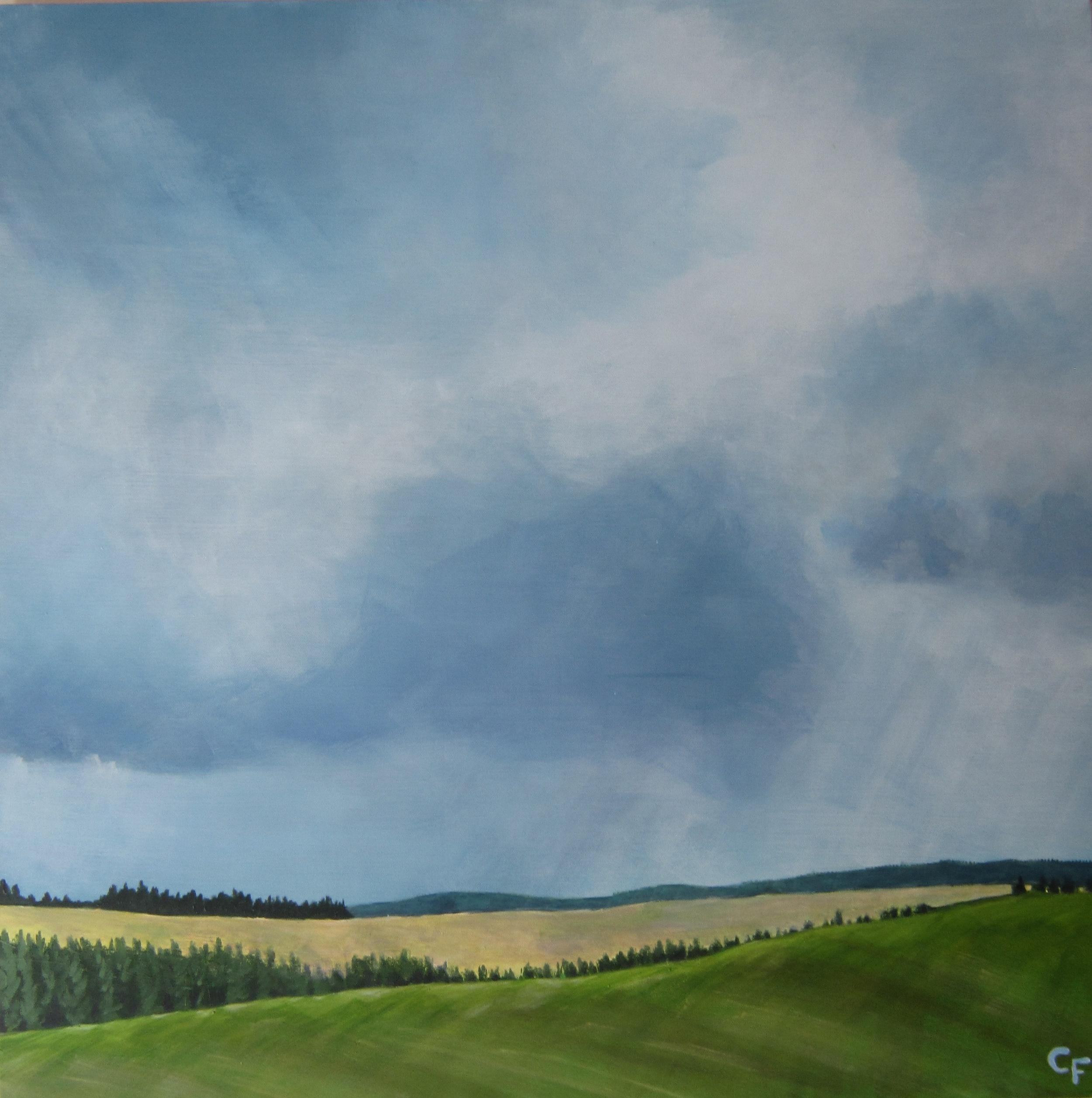 """Spring Storm on the Palouse - 30""""x30"""" - SOLD"""