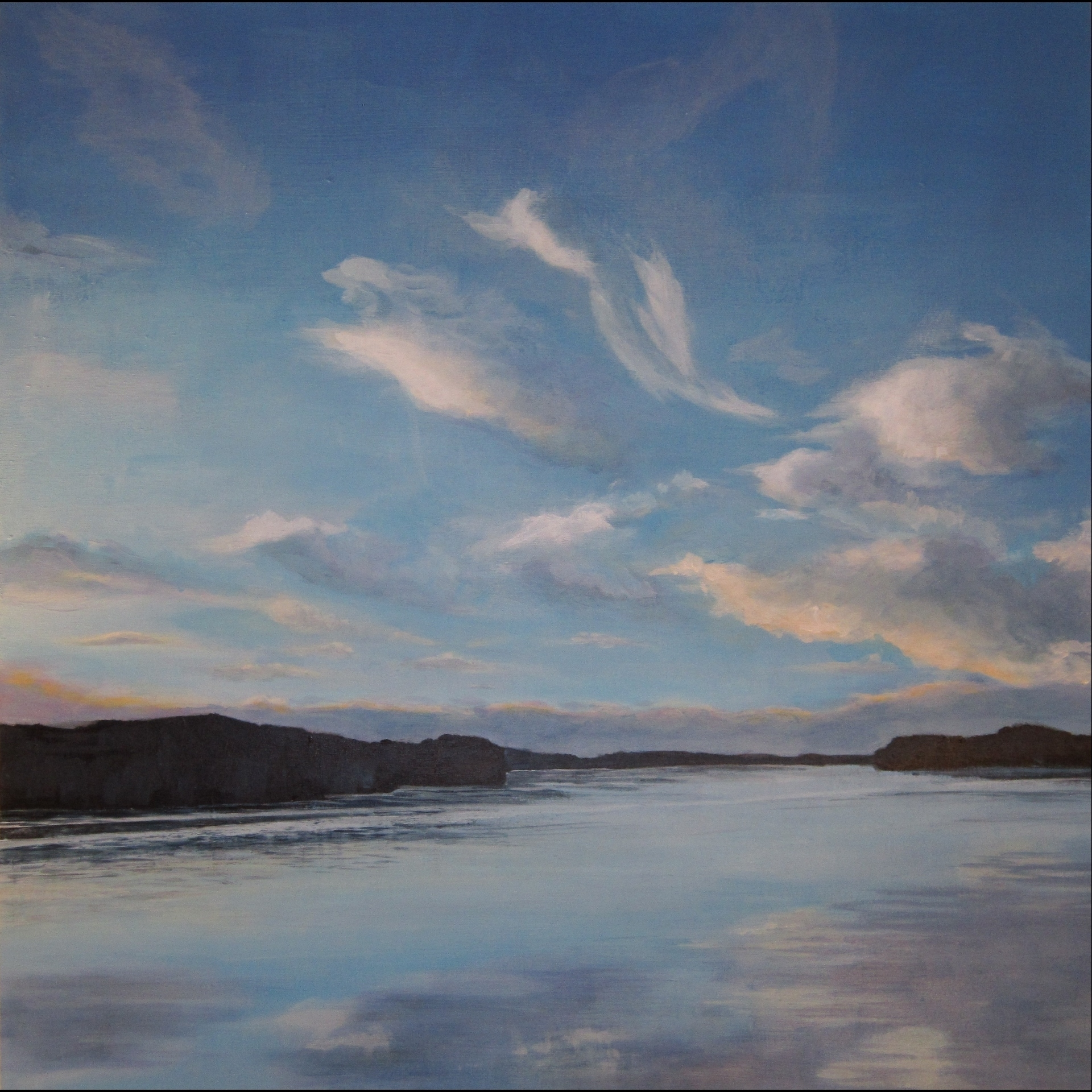 """Clouds Over the Columbia - 24""""x24"""" - SOLD"""