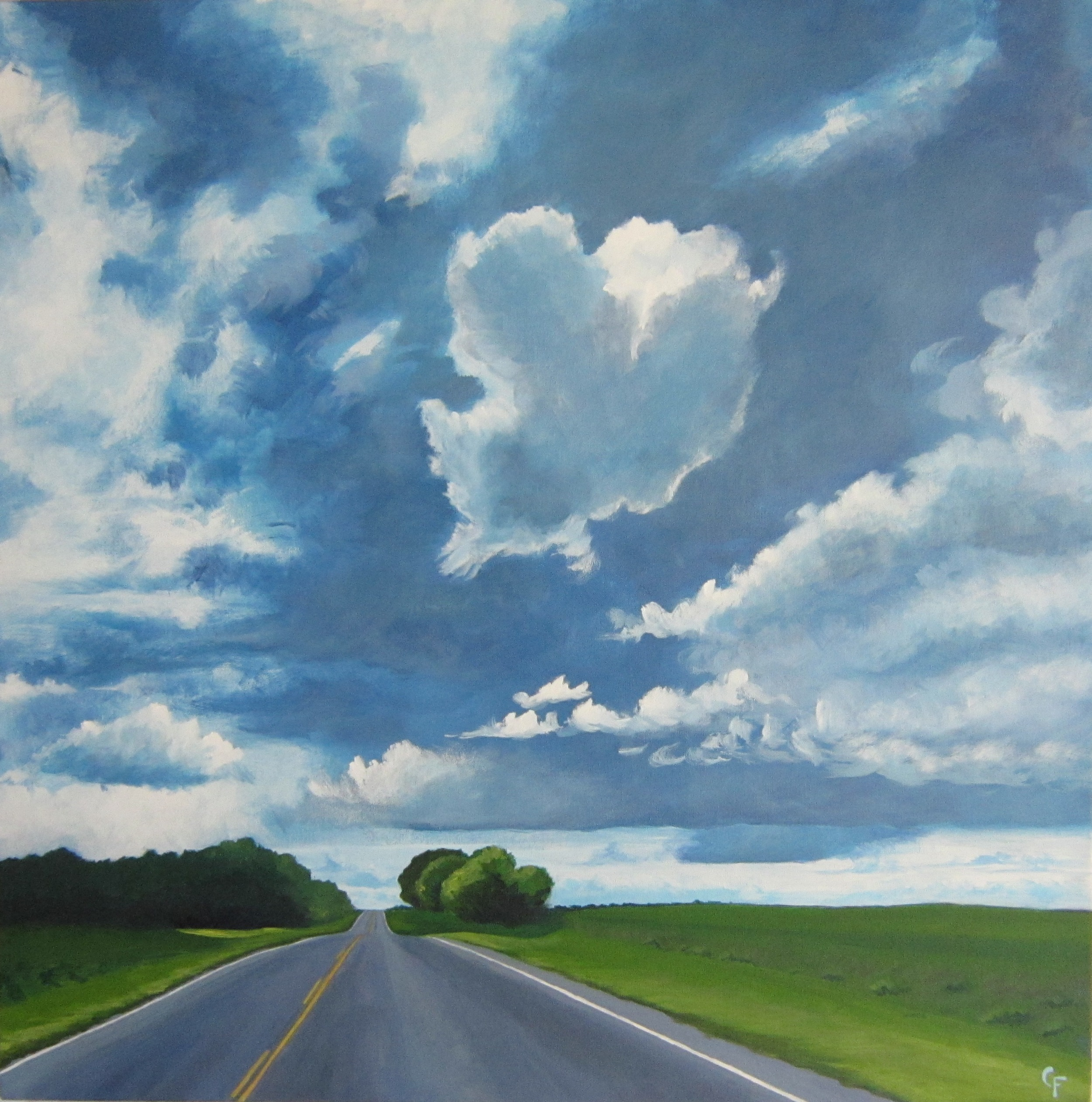 """Back Road - Acrylic on canvas - 36""""x36"""" -  See more"""