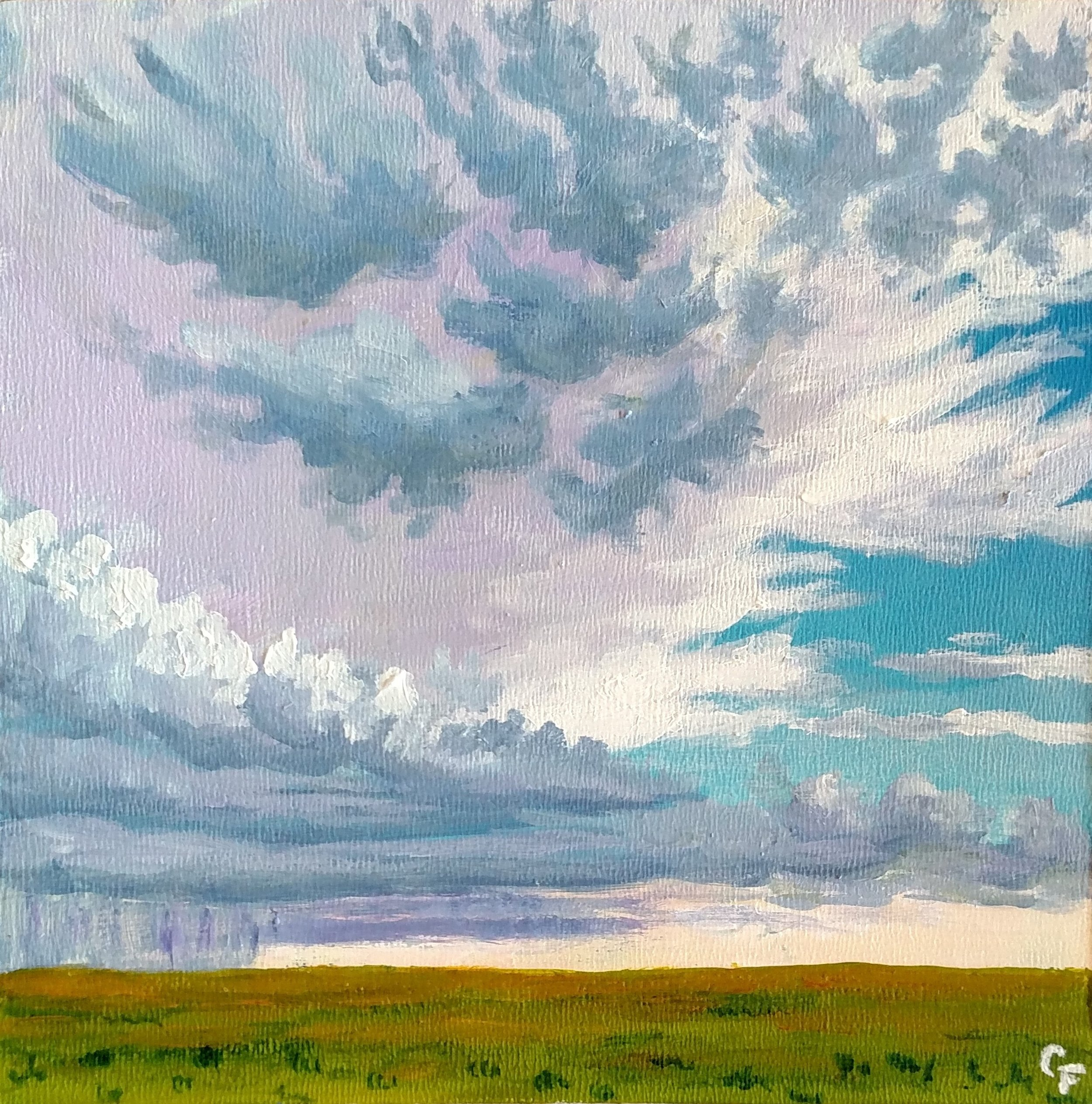 """August Oncoming Storm - 6""""x6"""" - Available  here"""