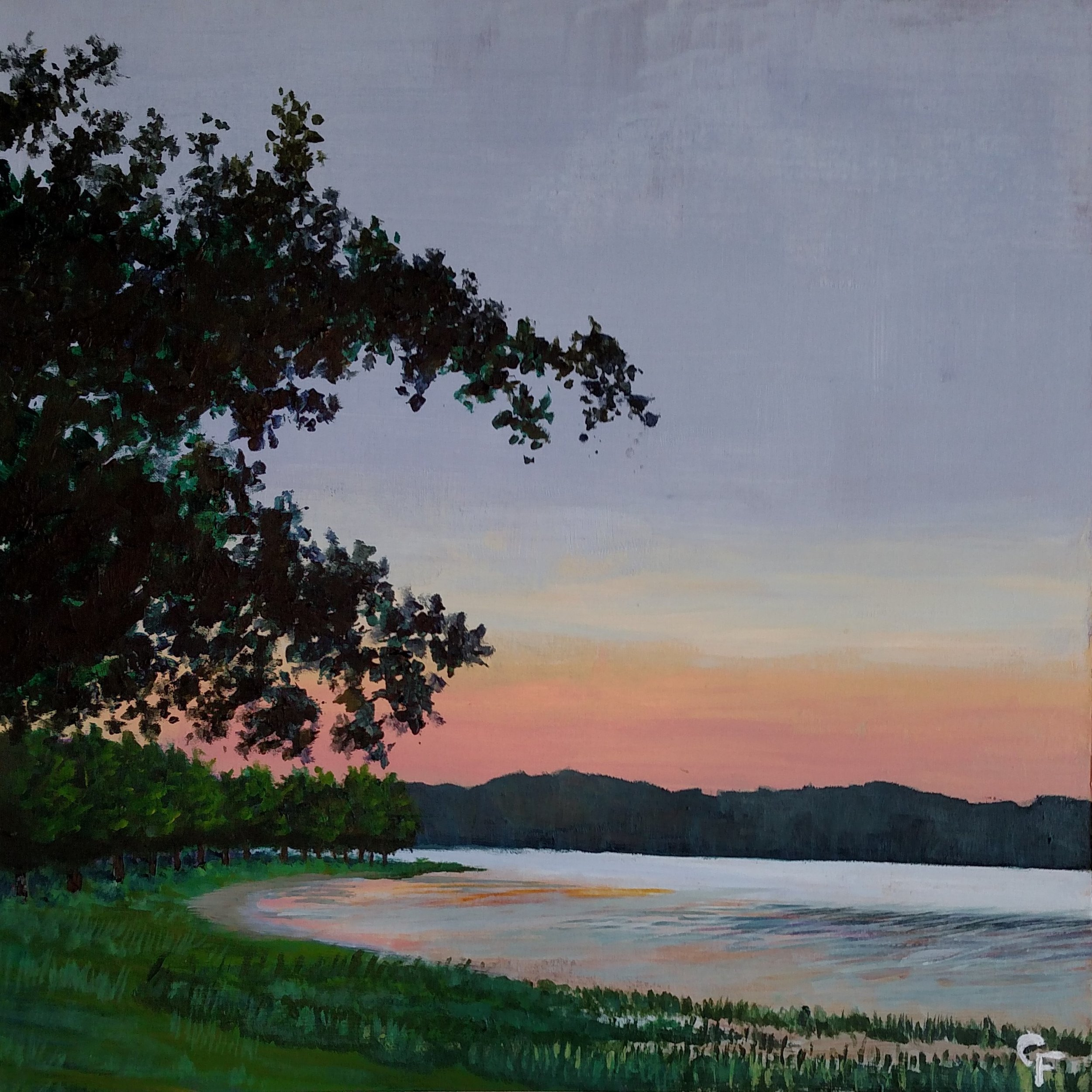 "Heyburn Lake Sunset - 10""x10"" - Available  here"