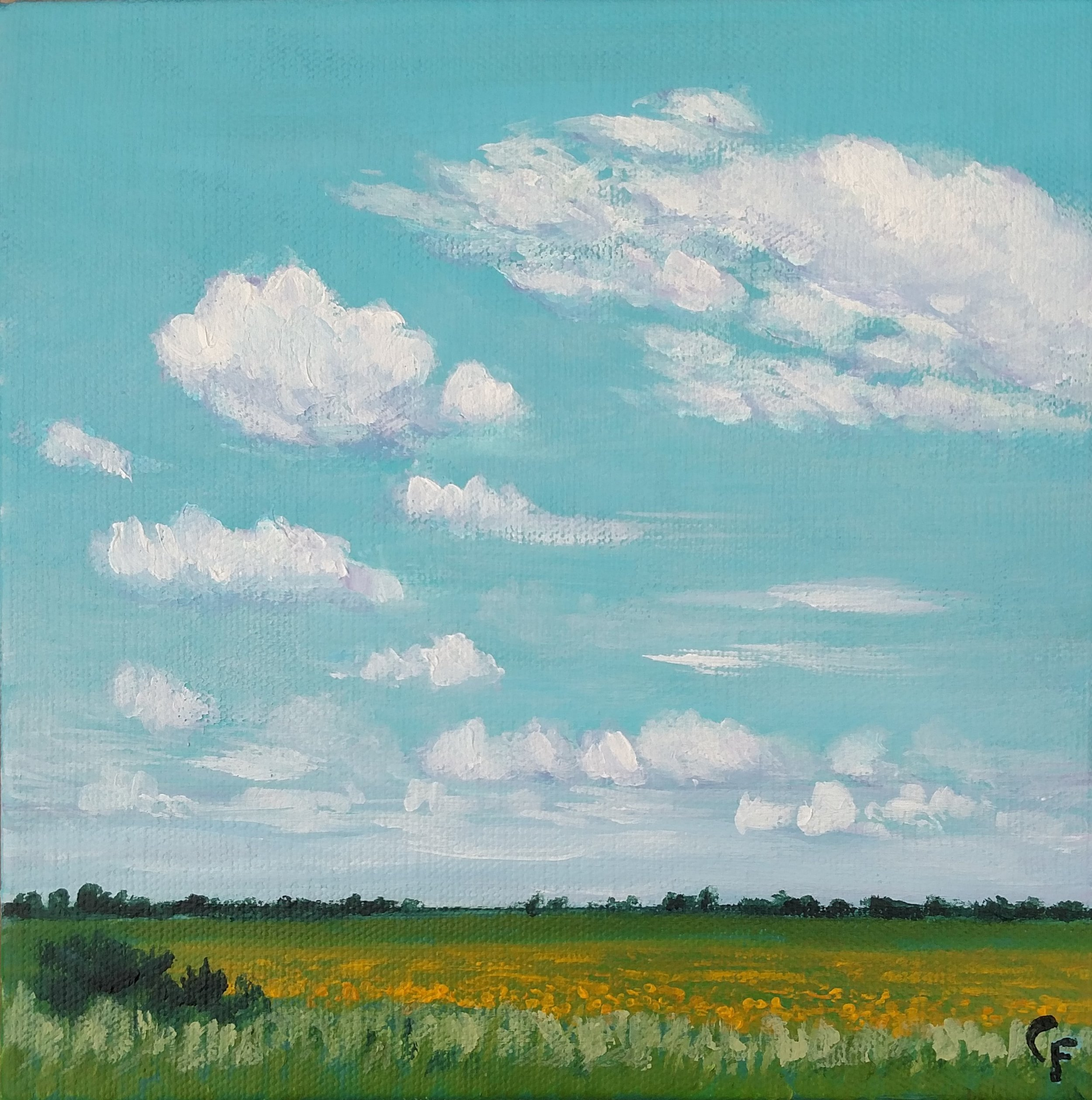 """September Field - 8""""x8"""" - Available  here"""