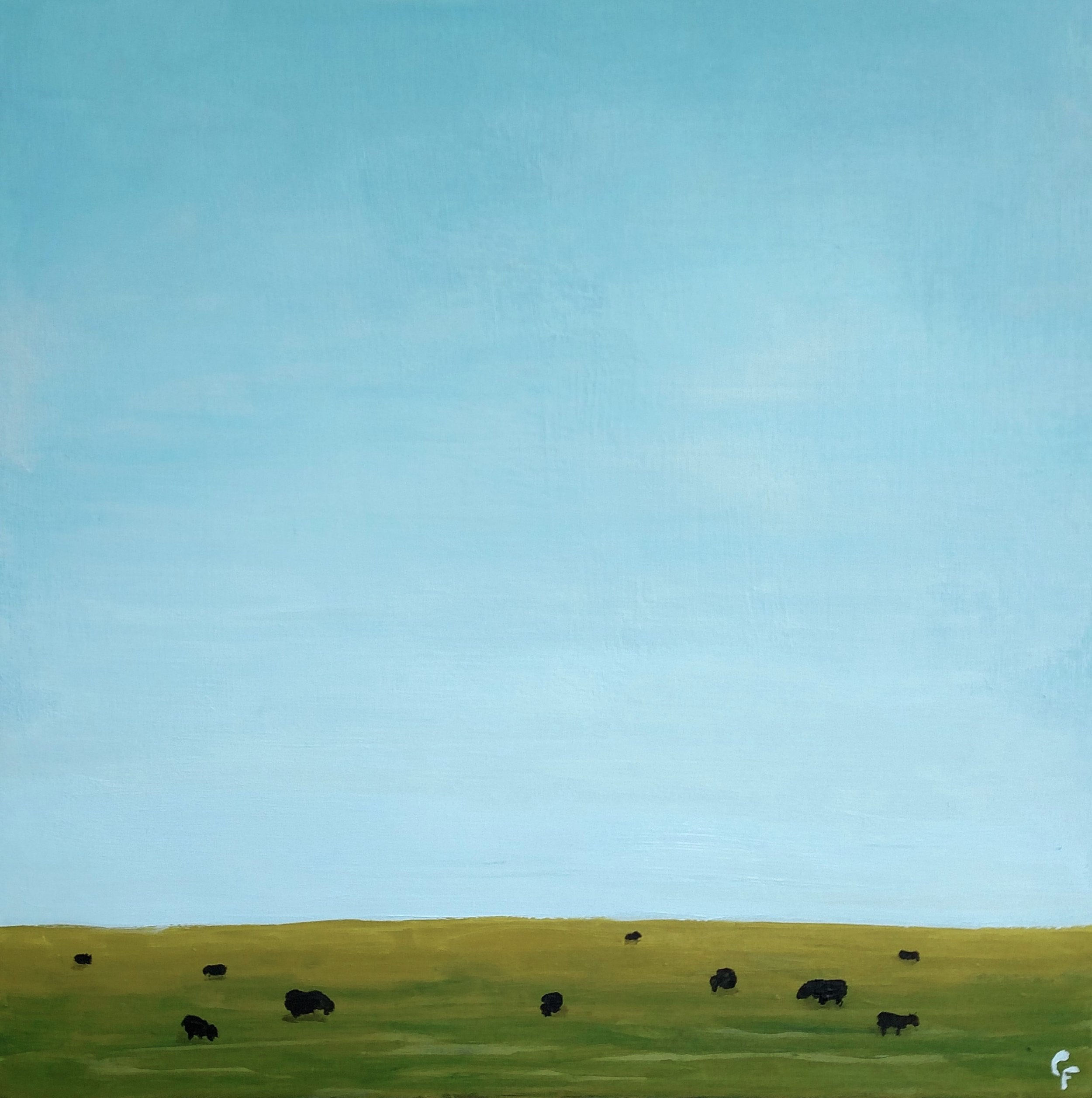 "September Cows - 12""x12"""