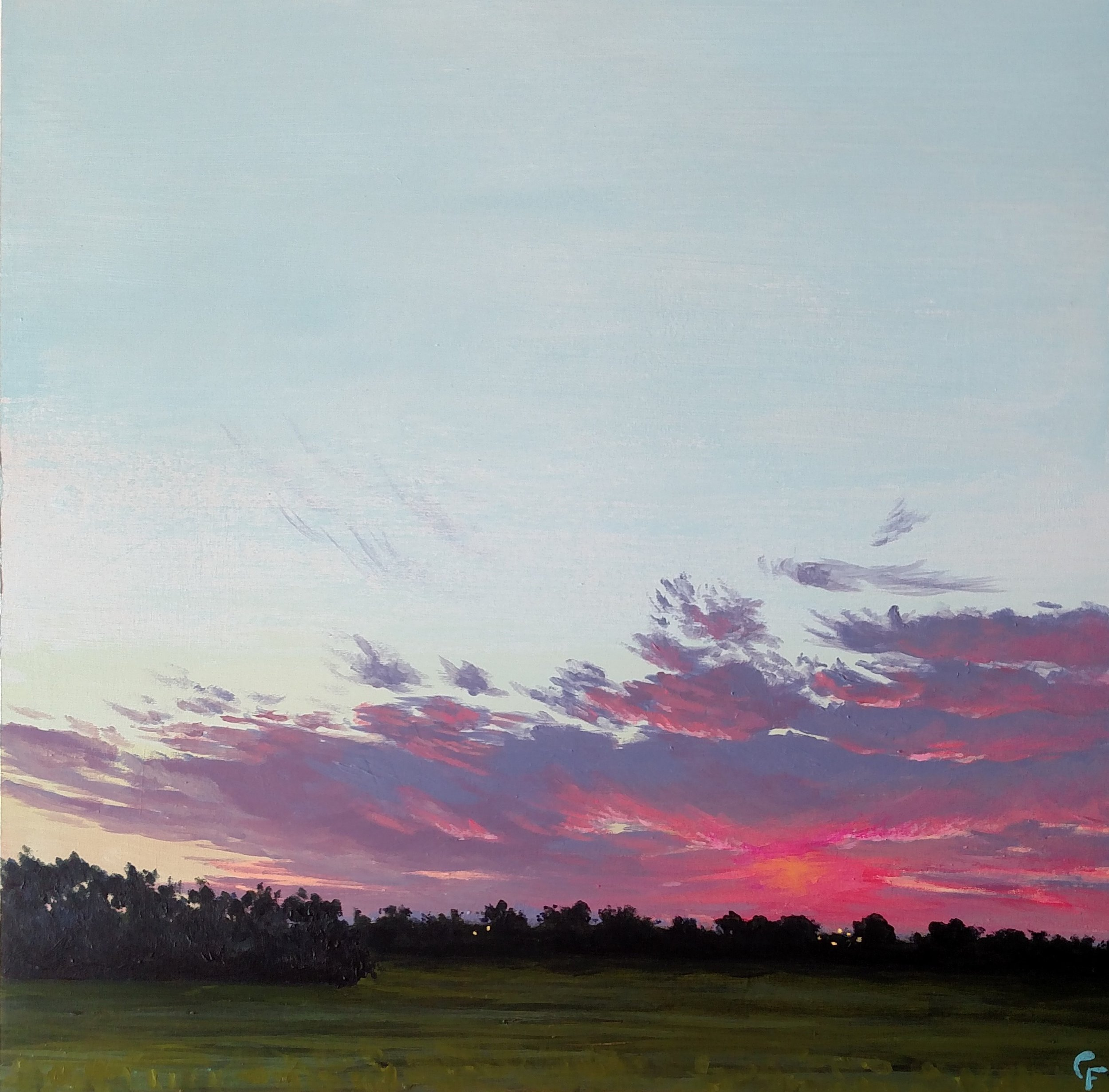 "Enid September Sunrise - 12""x12"" - Available  here"