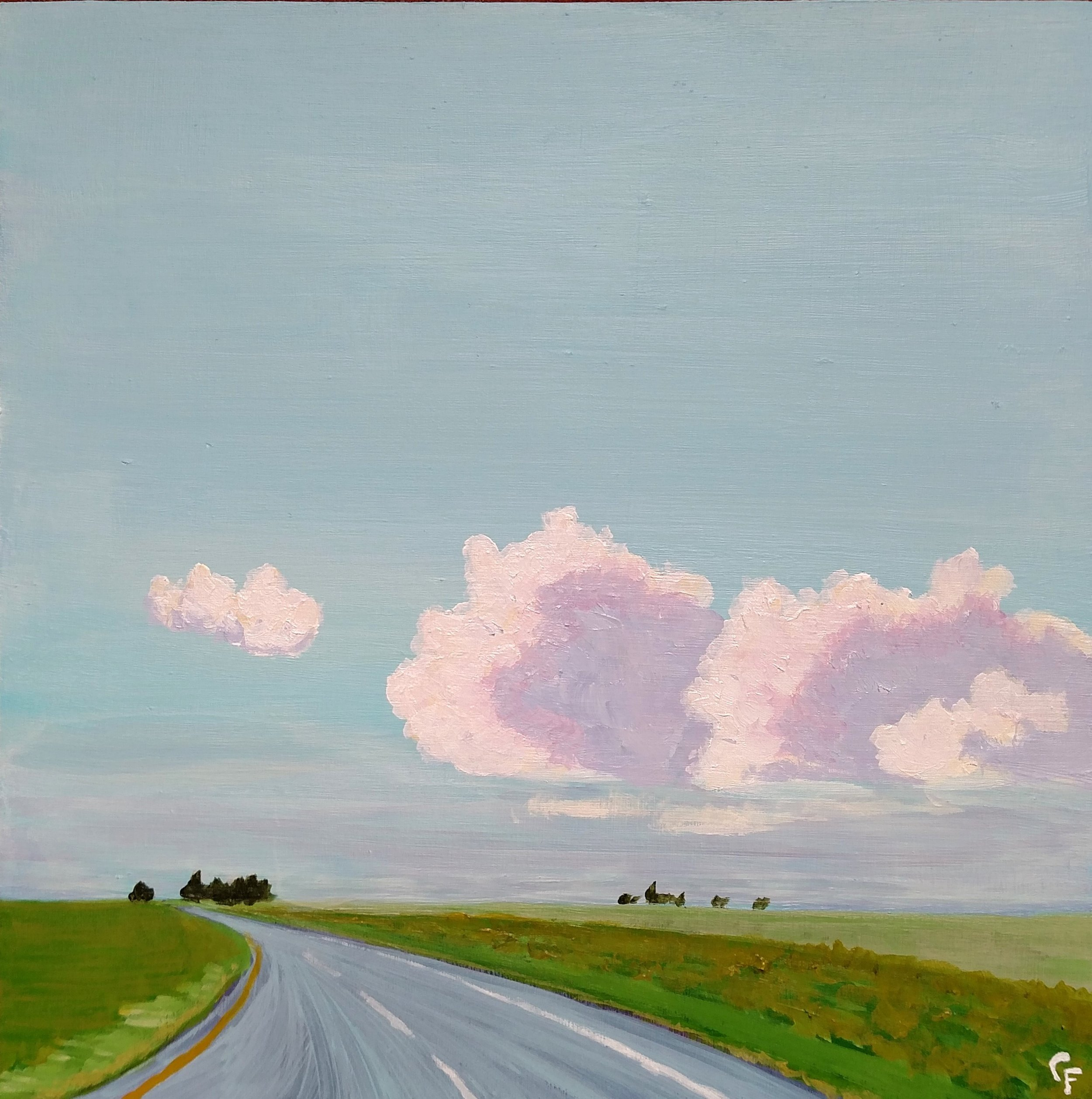 "Highway 81 Evening Drive - 10""x10"" - Available  here"