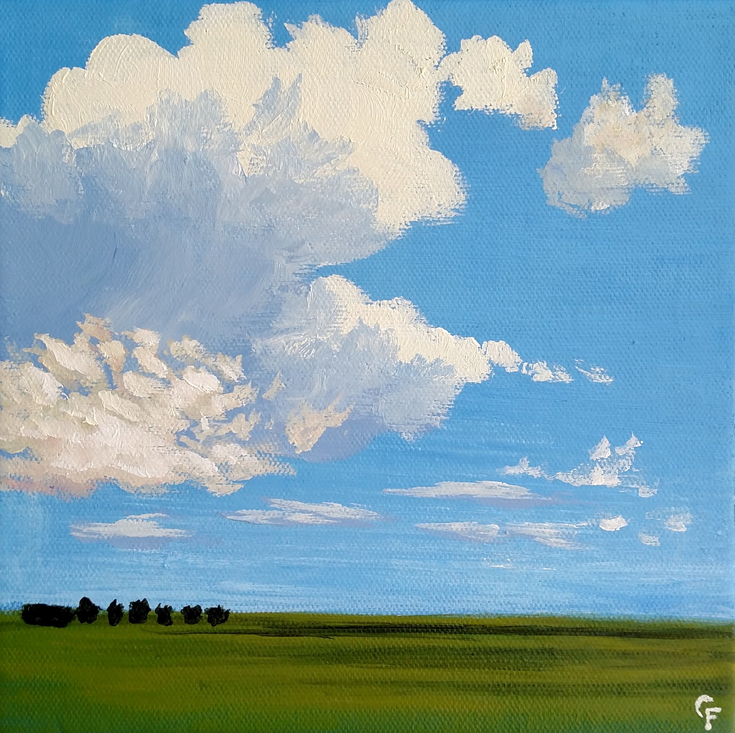 """Late Summer Clouds - 8""""x8"""" - Available  here"""
