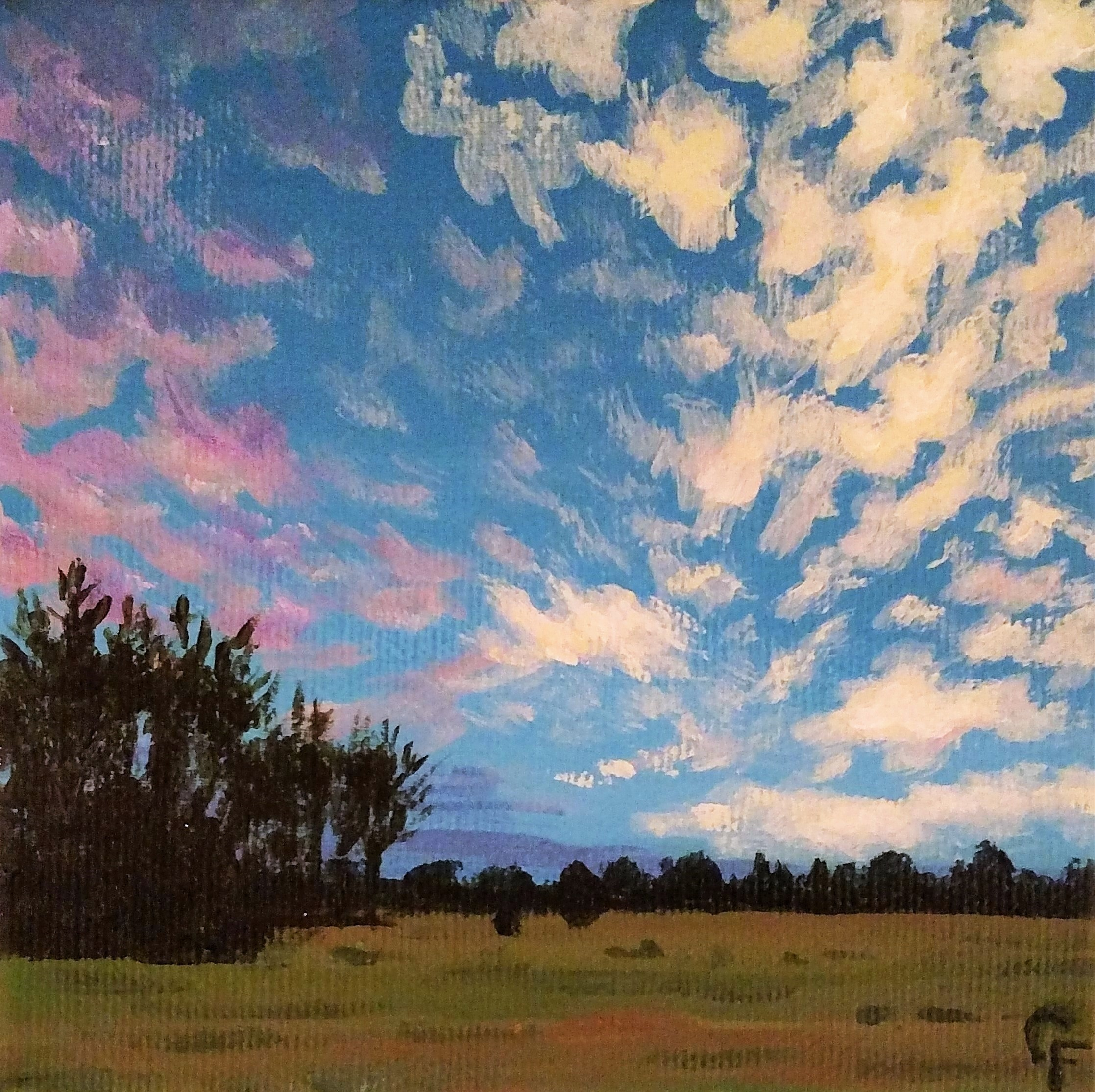 "Enid November Sunset #2 - 5""x5"" - Available  here"