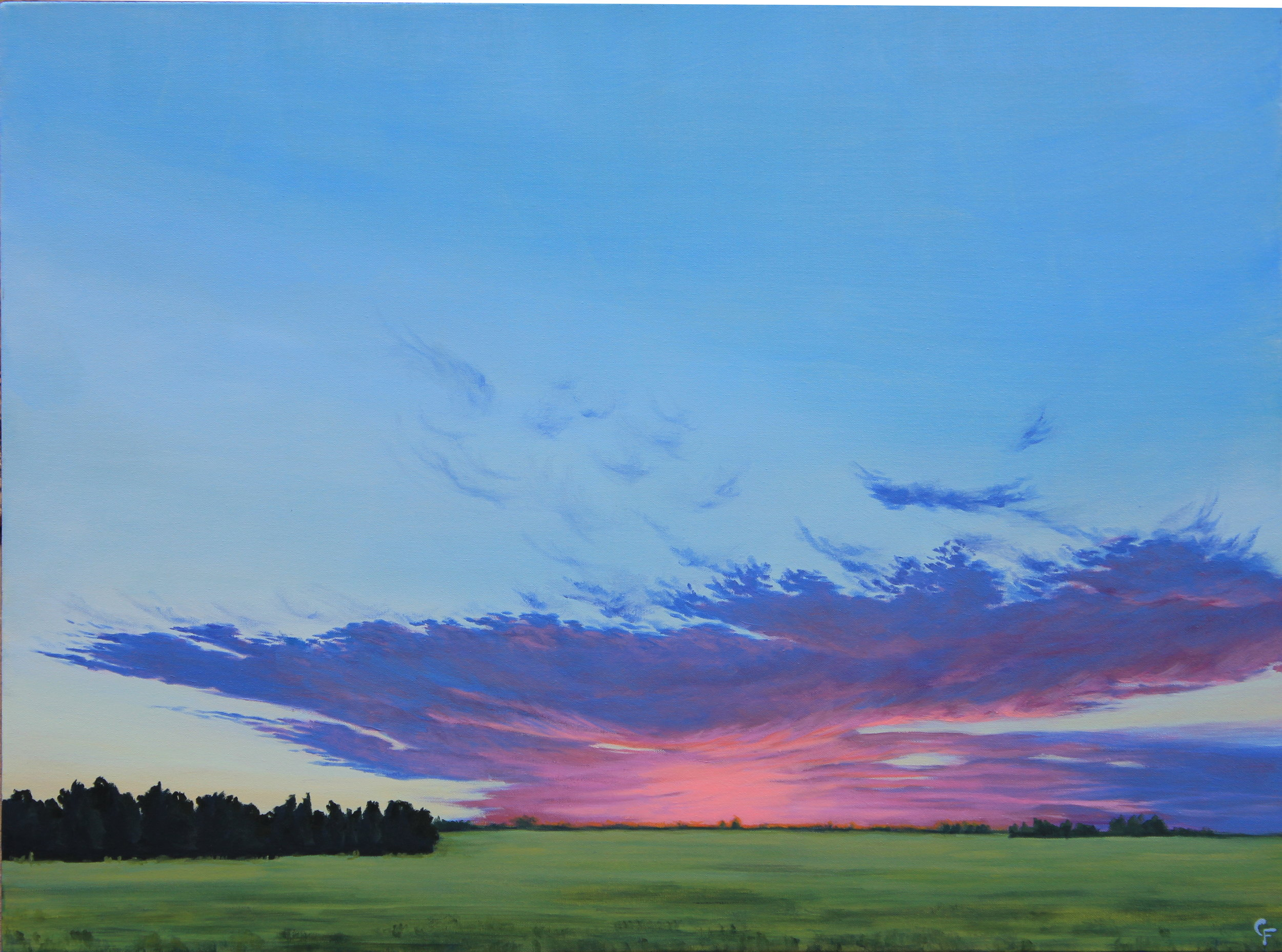 """Enid Sunrise #7 - 30""""x40"""" - Available  here"""