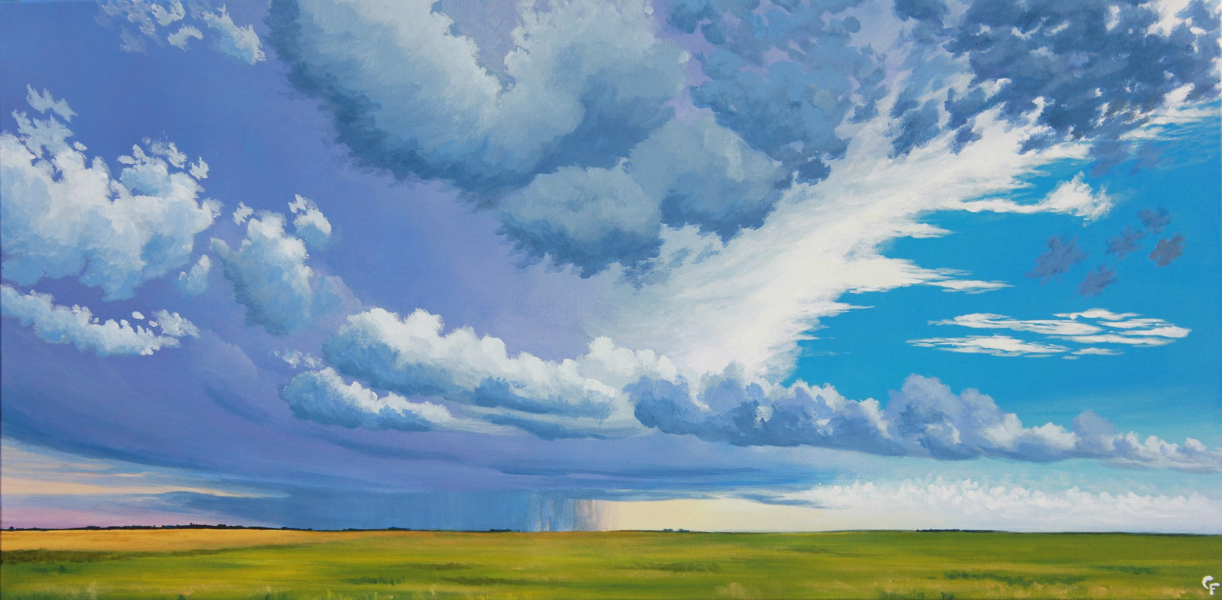 "August Oncoming Storm - 24""x48"" - Available  here"