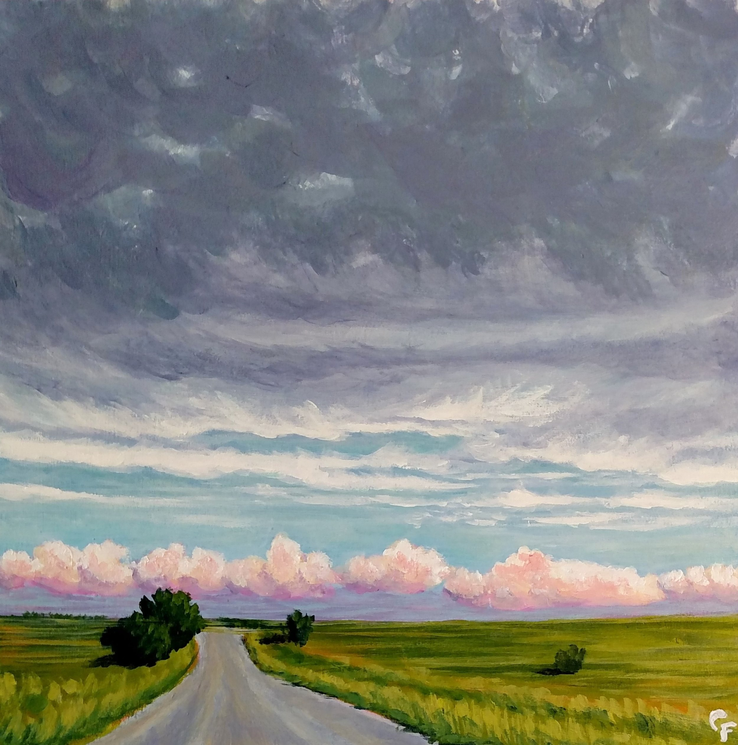 """Gravel Road Drive - 10""""x10"""" - Available  here"""