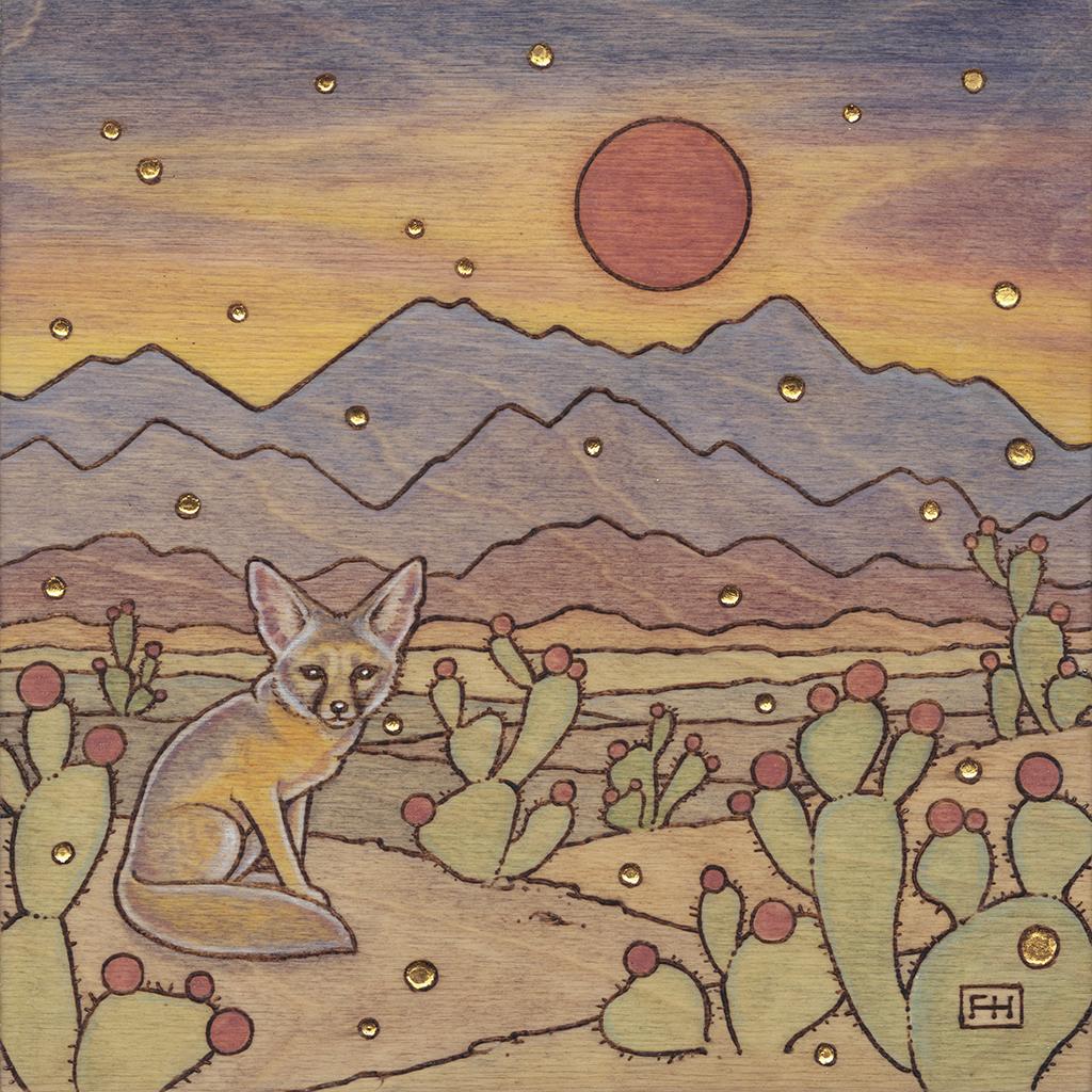 Kit Fox in the Desert