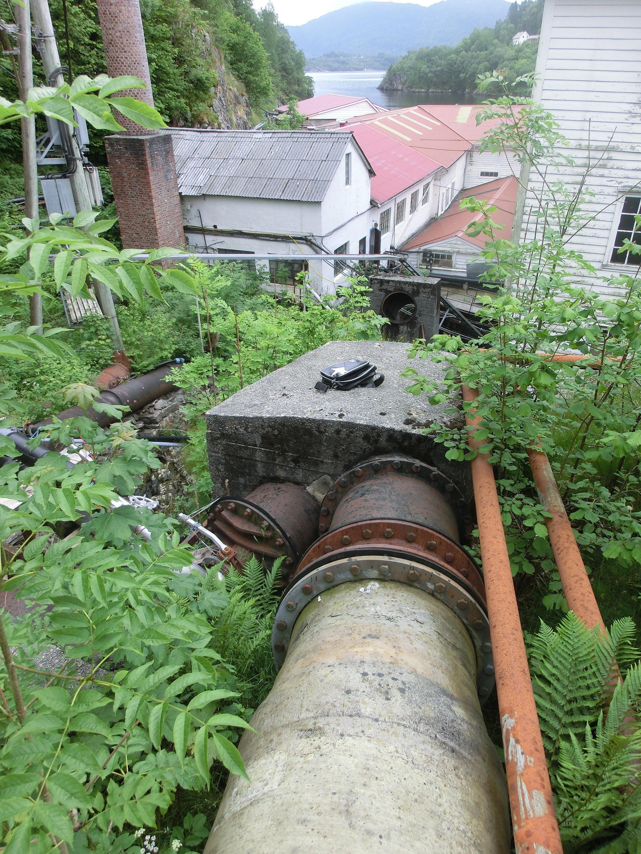 Betongkloss nedstraums Y-avgreining før bygging
