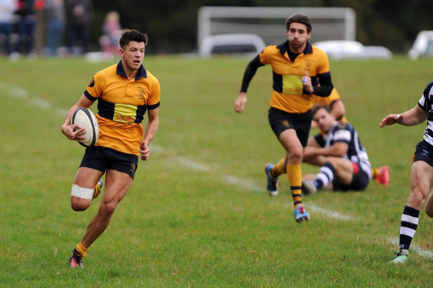 Sheer Pace:Winger Matt Weston was on fine form in attack and defence. Photo Credit: David Purday