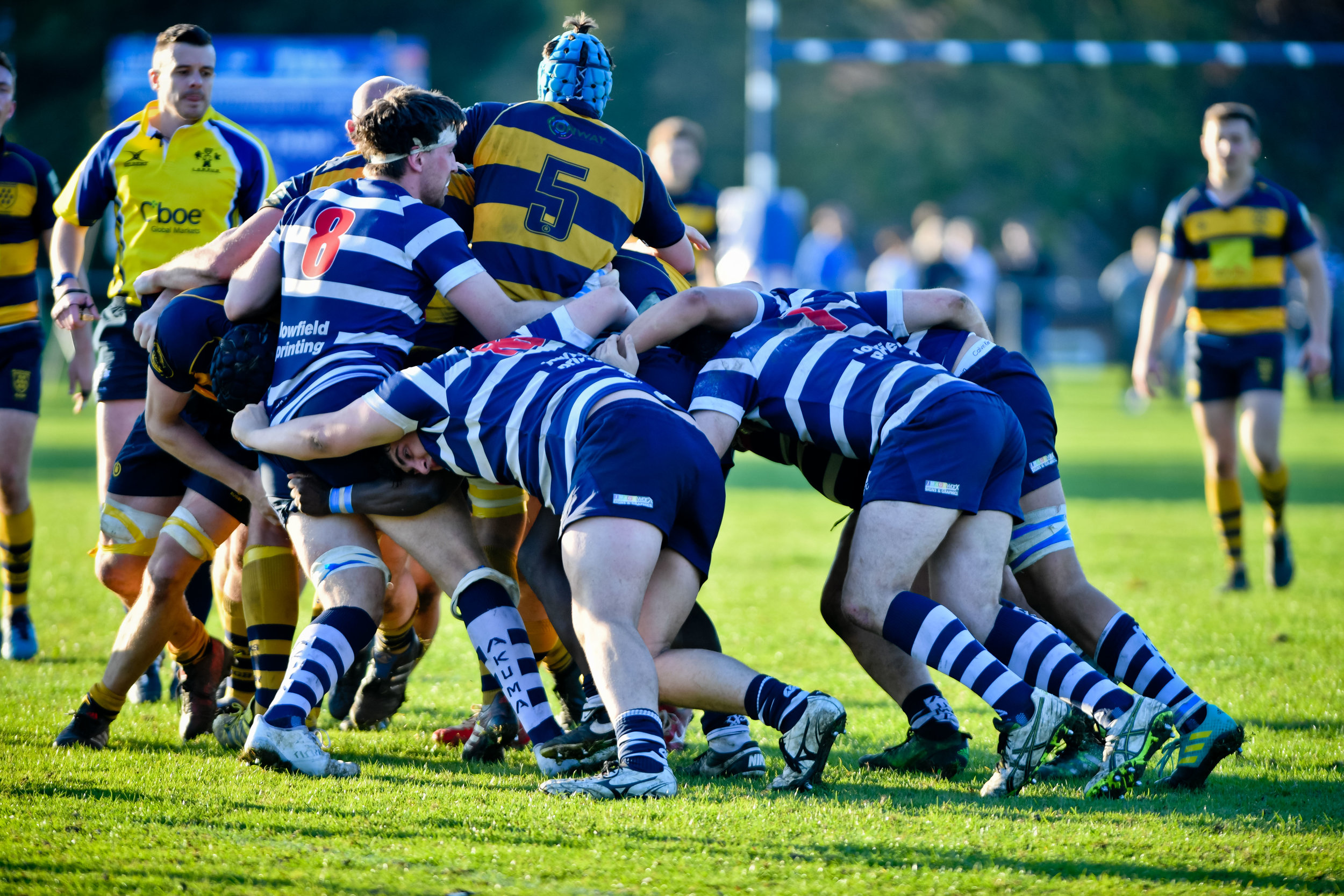 Oaks 1st XV have had a good start to the season, including a win away at local rivals Westcombe Park RFC. Photo Credit: David Purday