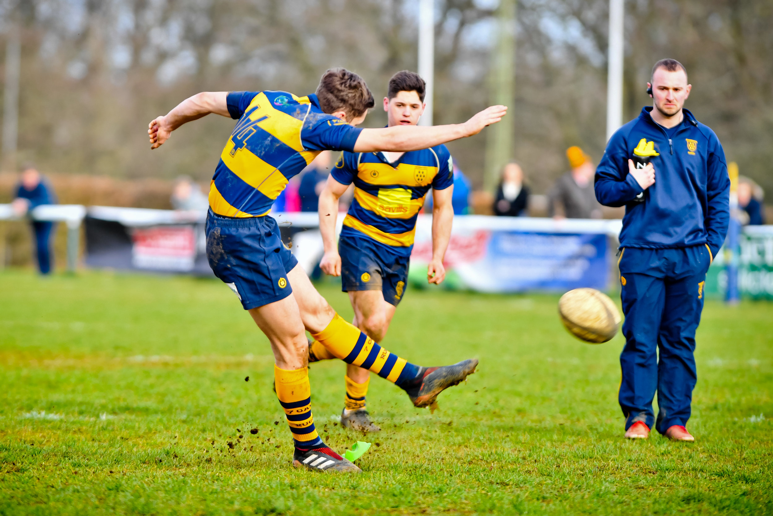 Oaks Ben Adams was on song from the tee on Saturday, plundering 17 points.  Photo Credit: David Purday