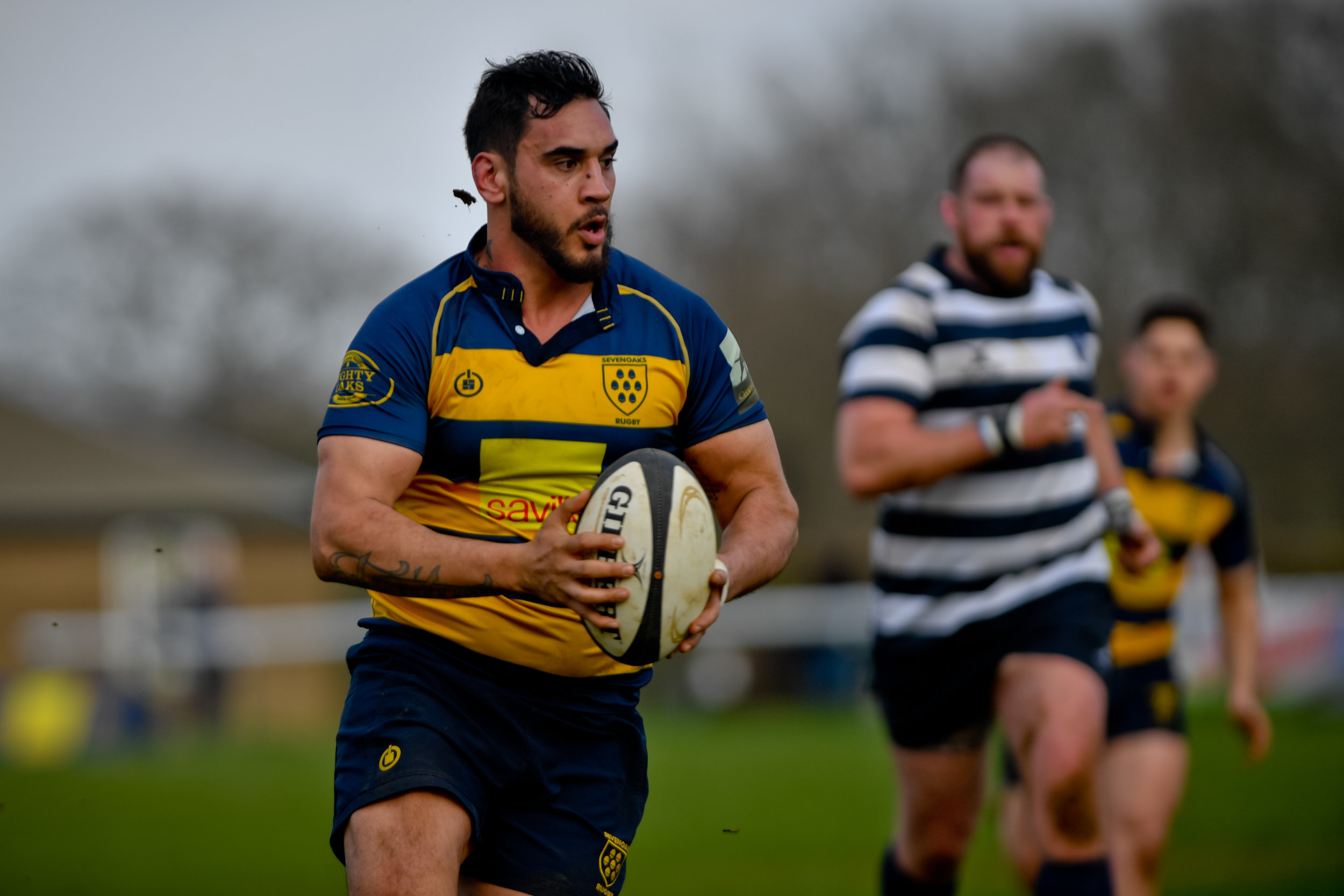 Sevenoaks RFC No.8 Alex Suttie had an outstanding game against Havant RFC. Photo Credit: David Purday