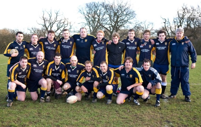 Jim Monks, pictured front row fourth in from the left, was a true Club legend for both Oaks and Vigo RFC.