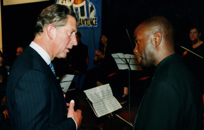 HRH Prince Charles meeting Philip Herbert at the Prince's Foundation