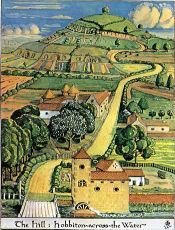 J.R.R. Tolkien - The Hill - Hobbiton across the Water