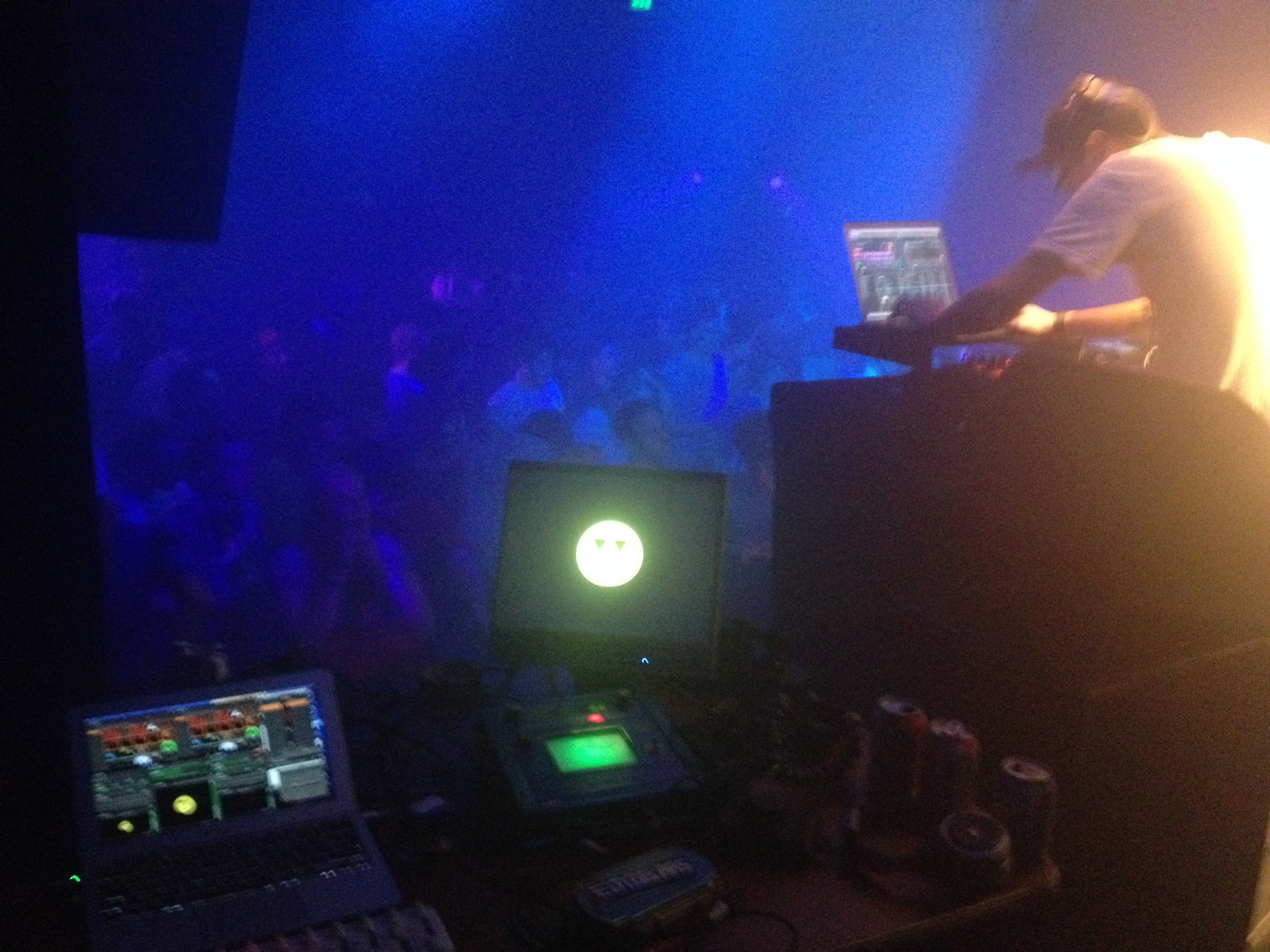My VJ setup, in front of loads of people!