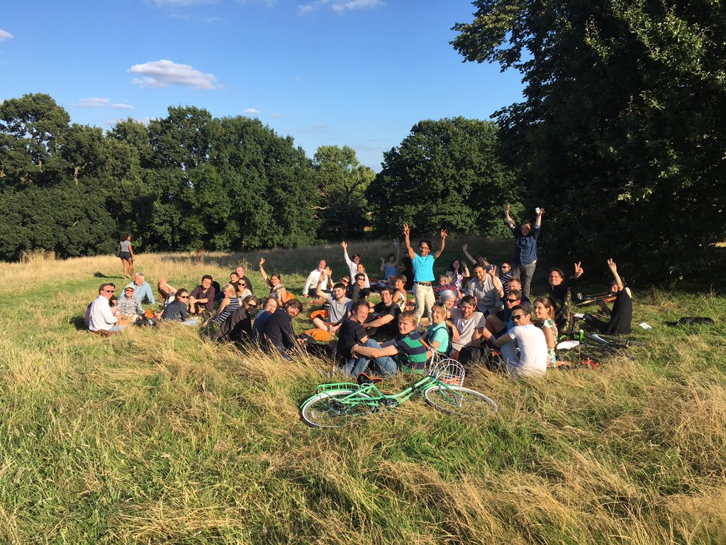A much deserved closing party in Hampstead Heath after the show, with all our friends and collaborators.