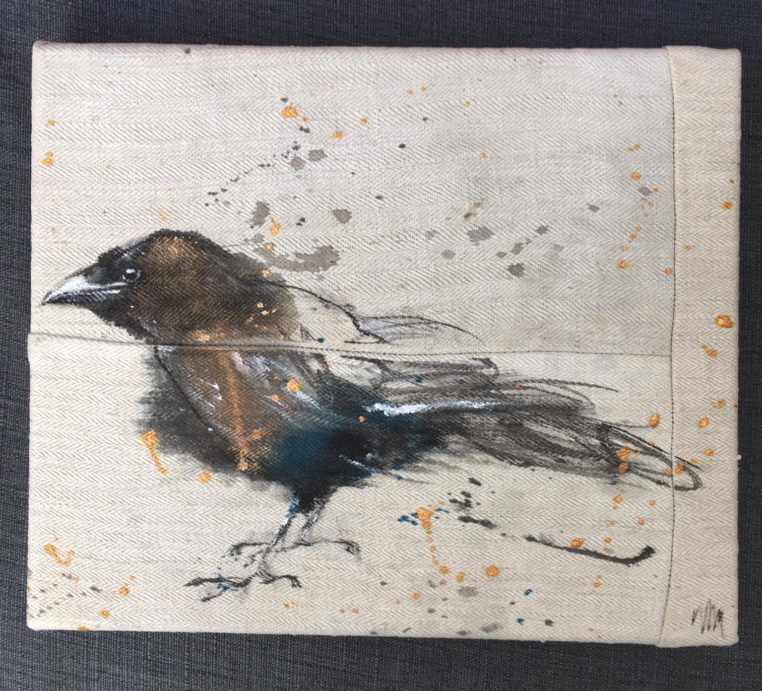 Crow baby (te koop) 25x30