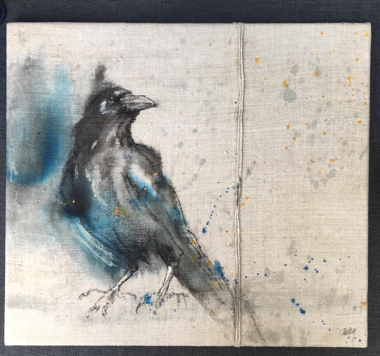 Crow bleus (te koop) 40x45