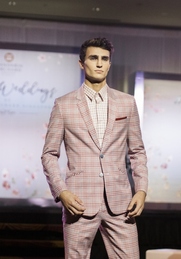 """We like to put men in more fashionable statement pieces too. The key is to look stylish, yet incredibly charming."" - On introducing bold prints and plaids into the latest men's range. Colours and motifs that are often seen as feminine (such as pink, floral etc.), put together with traditional tailoring."