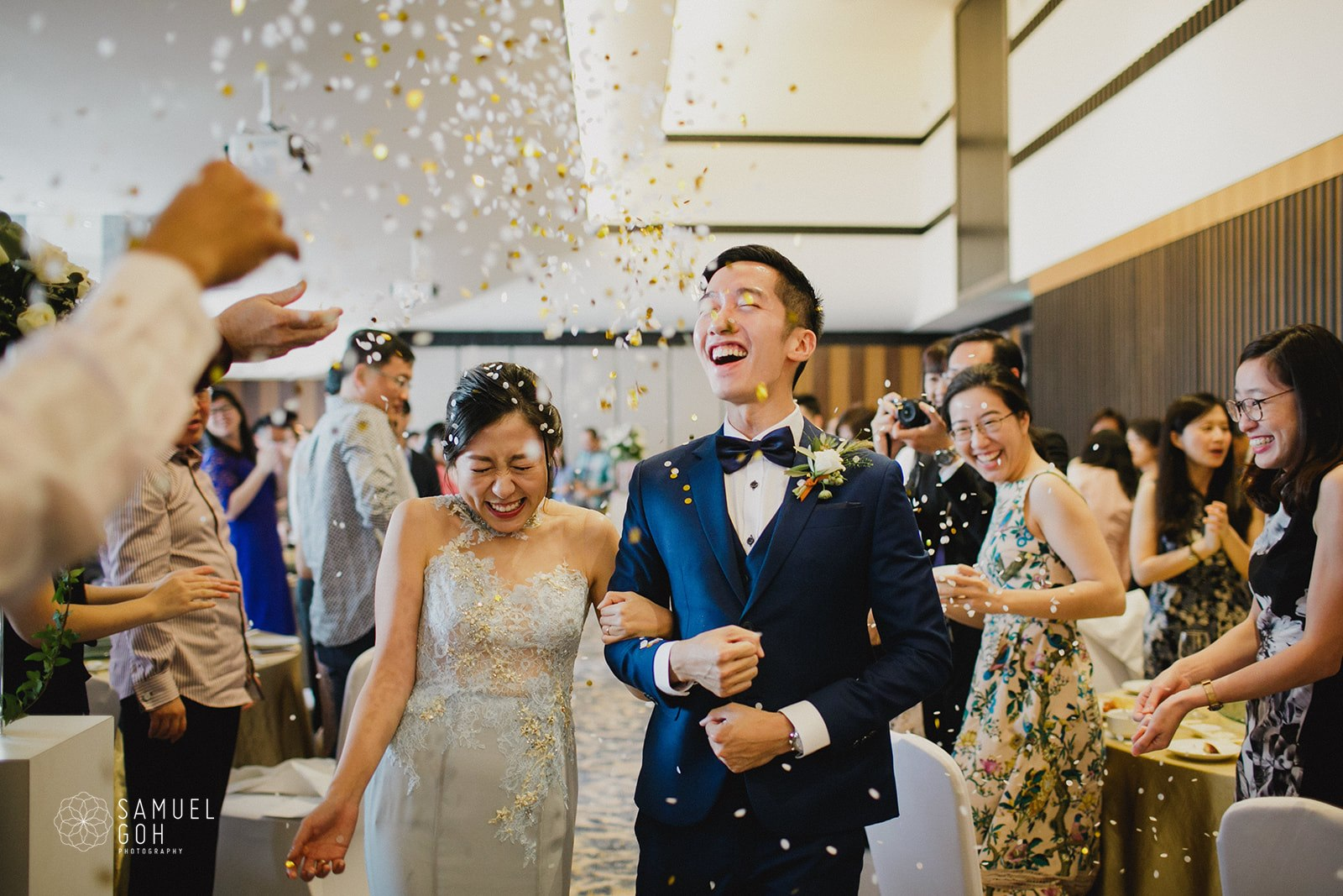 Li Han and Makoto's Wedding Day  (Photographed by Samuel Goh Photography)