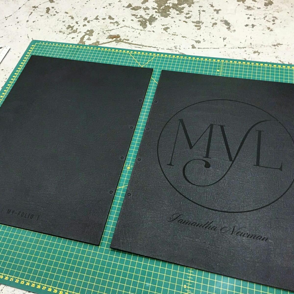 Bespoke leather portfolio