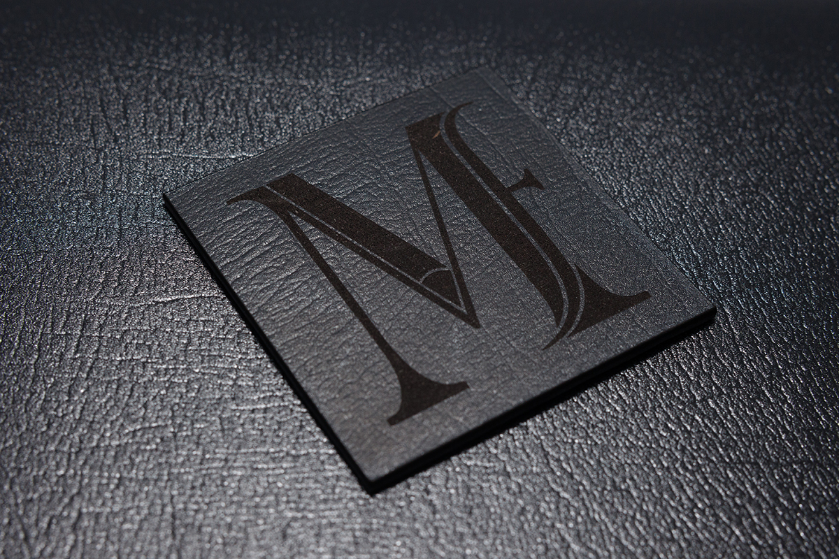 custom logo engraved black leather portfolio album
