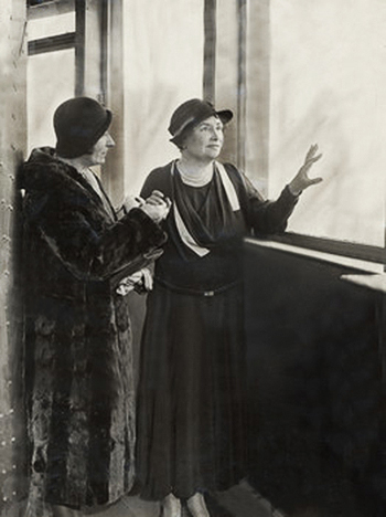Helen Keller at the Empire State Building in 1932.