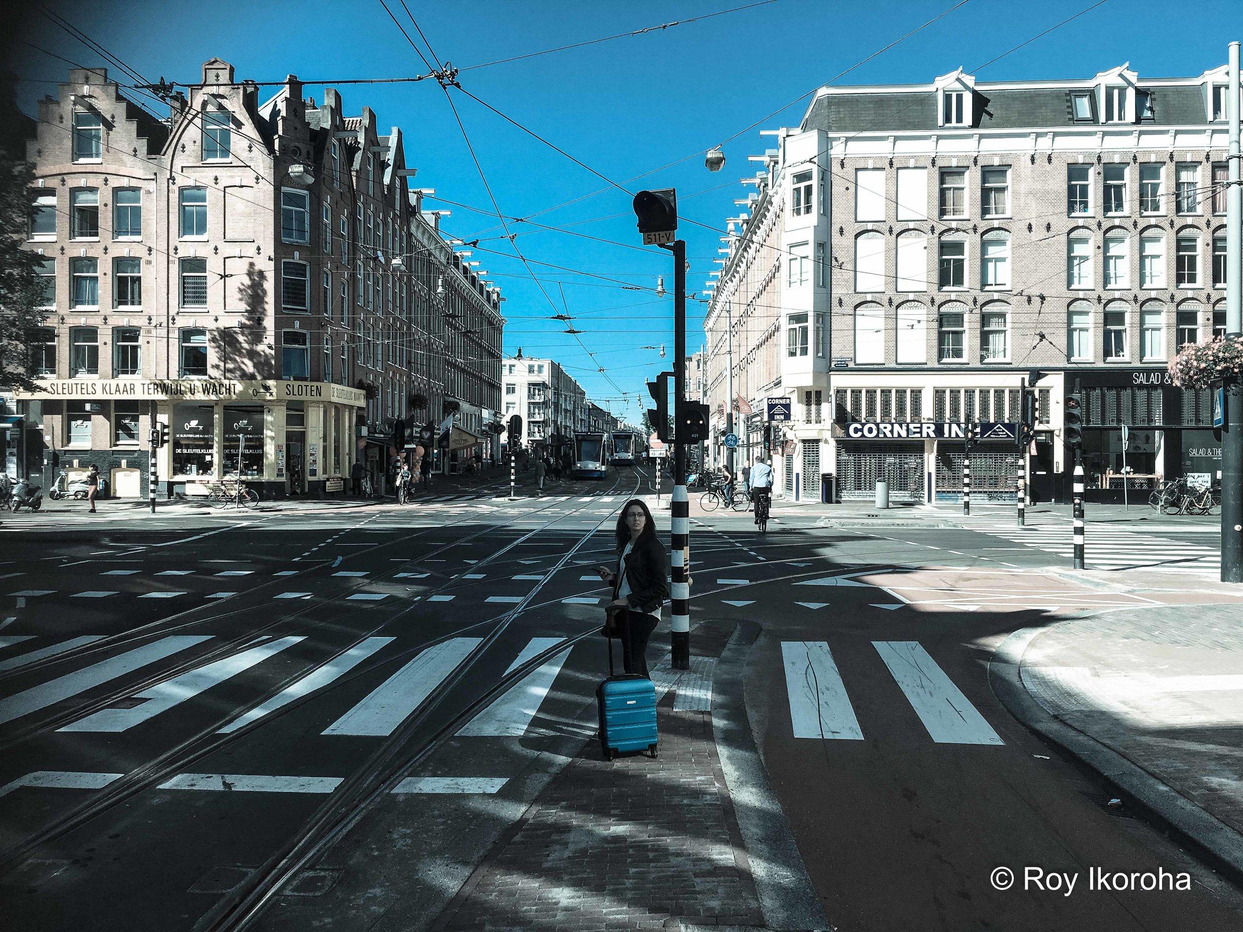 Wide streets of Bilderdijkstraat, Amsterdam, Netherlands