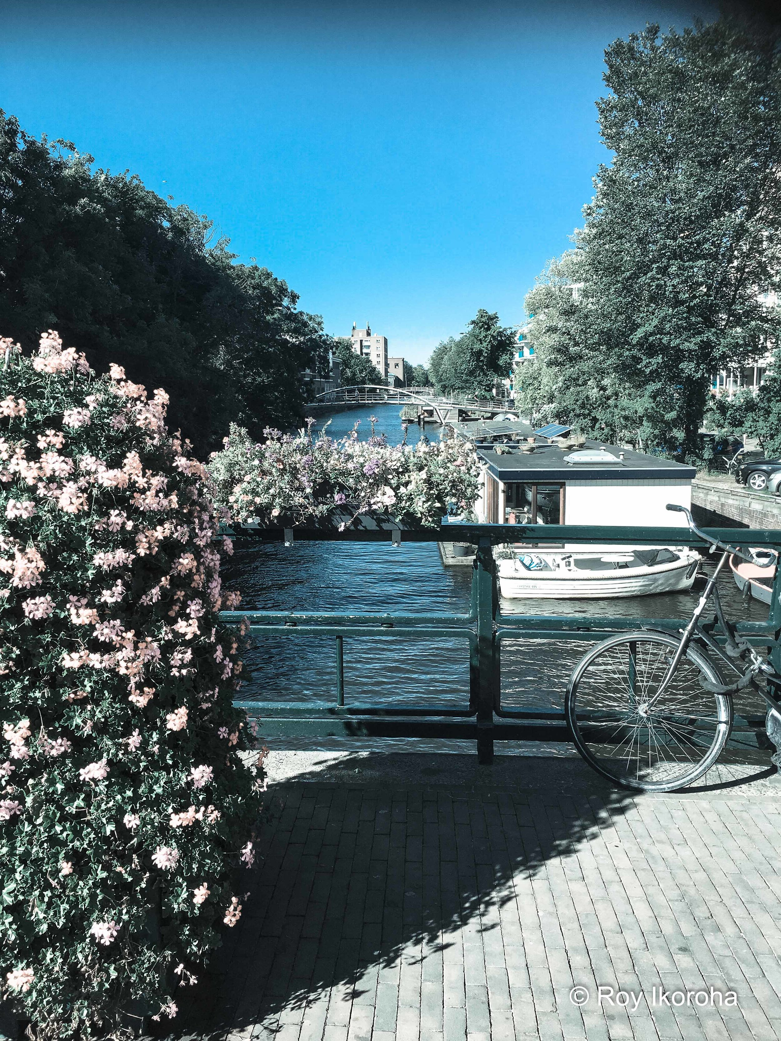 Some of the beautiful scenery on Bilderdijkstraat, Amsterdam, Netherlands