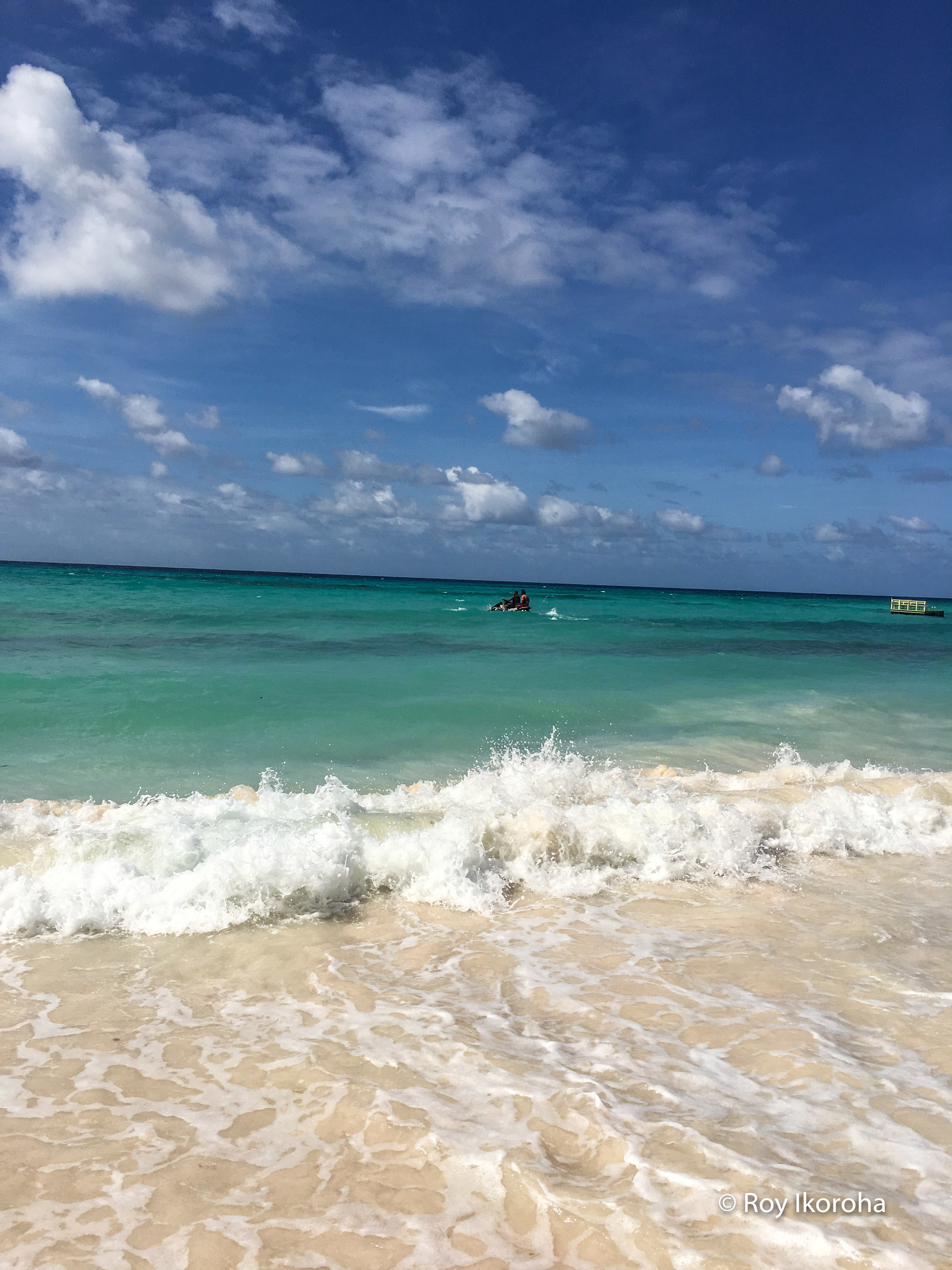 Taking to Jet Skiing at Butterfly Beach, Barbados