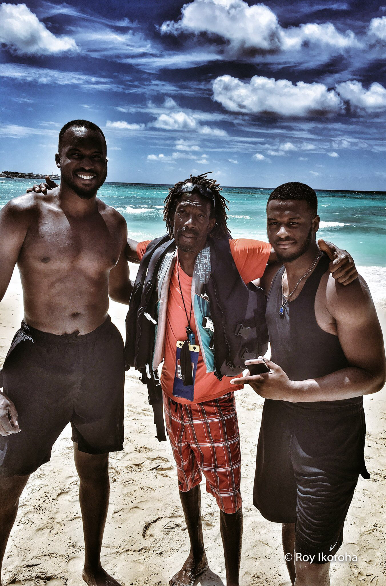 Pictured here with my bro and jet ski instructor Ellis.