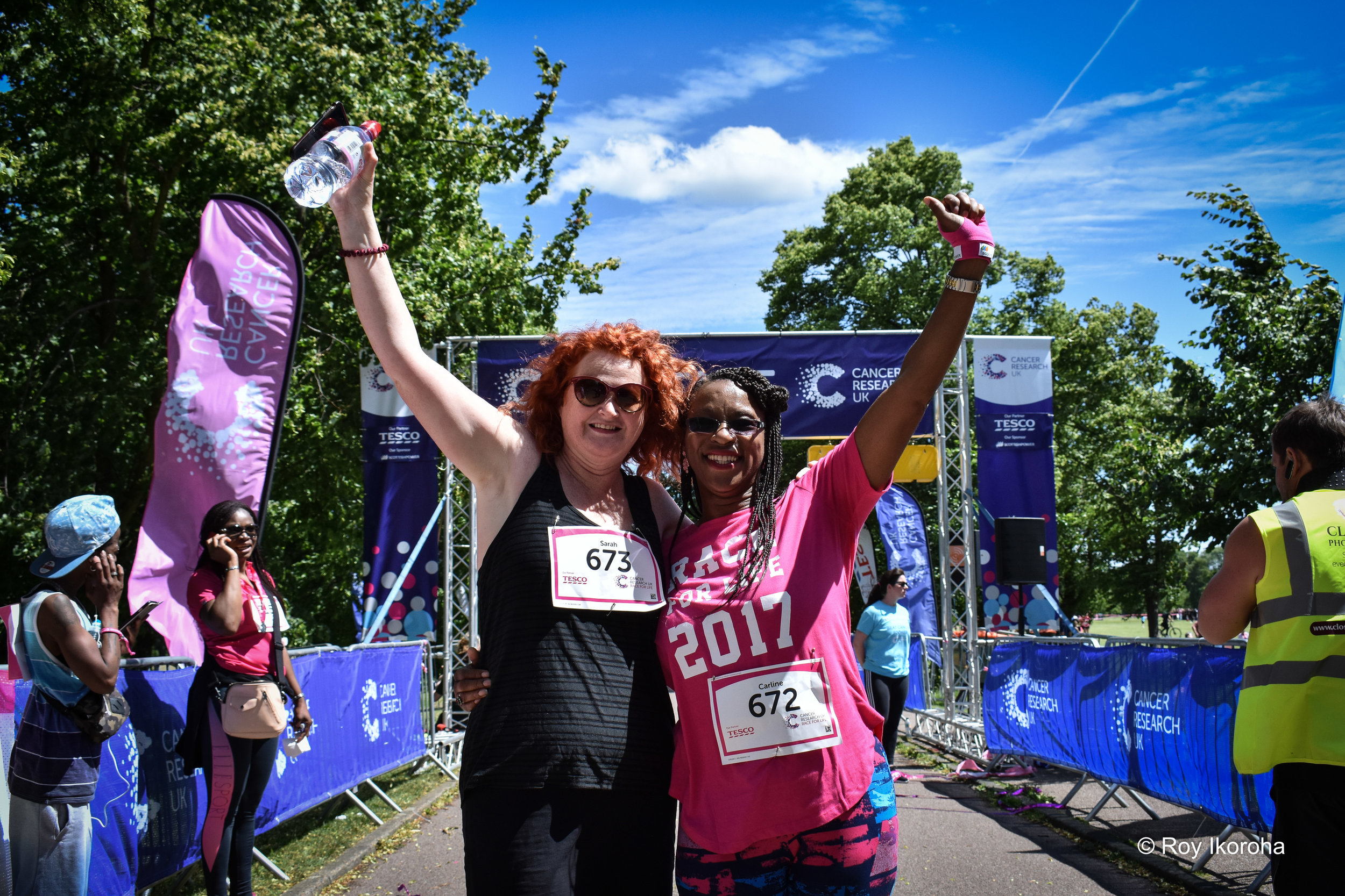 My Mum with Sarah crossing the finish line!