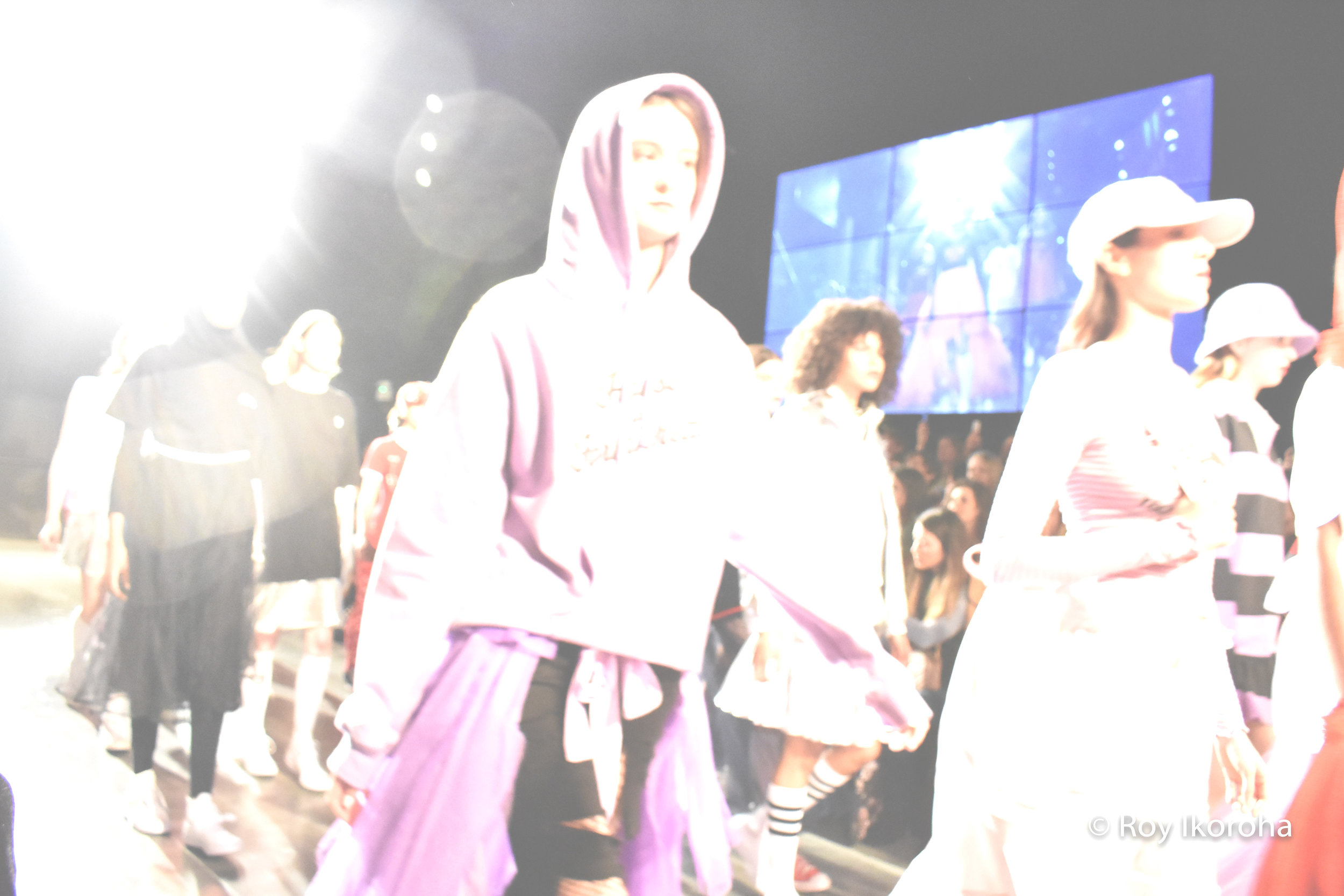 Conclusion to Nicopanda catwalk show, main runway inside The Store Studios, Strand, London