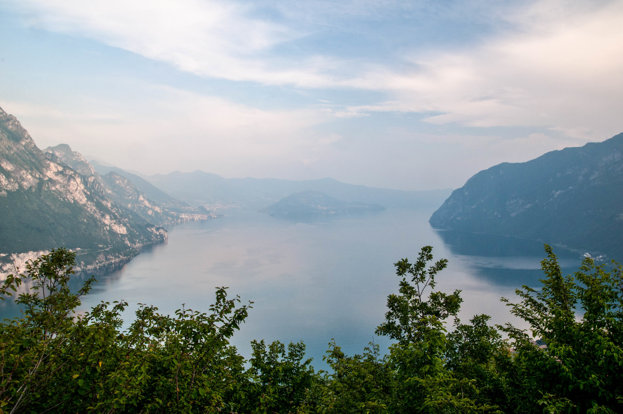 The view of Lake Iseo from our Air Bnb | Photograph by Lauren L Caron © 2016