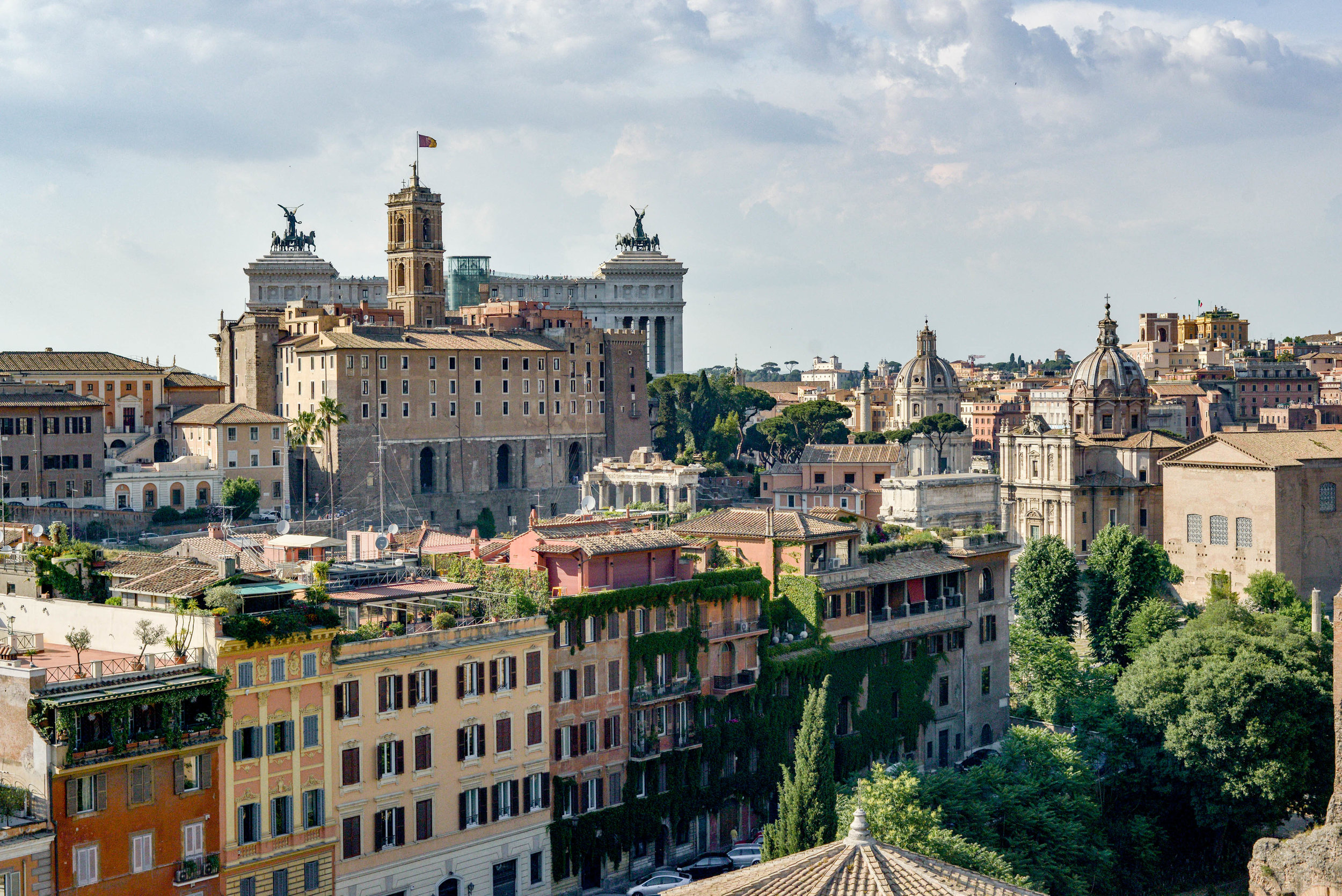 View of Rome, looking North from Palantine Hill. Photo by Lauren Caron © 2017, A Layered Life Travels.
