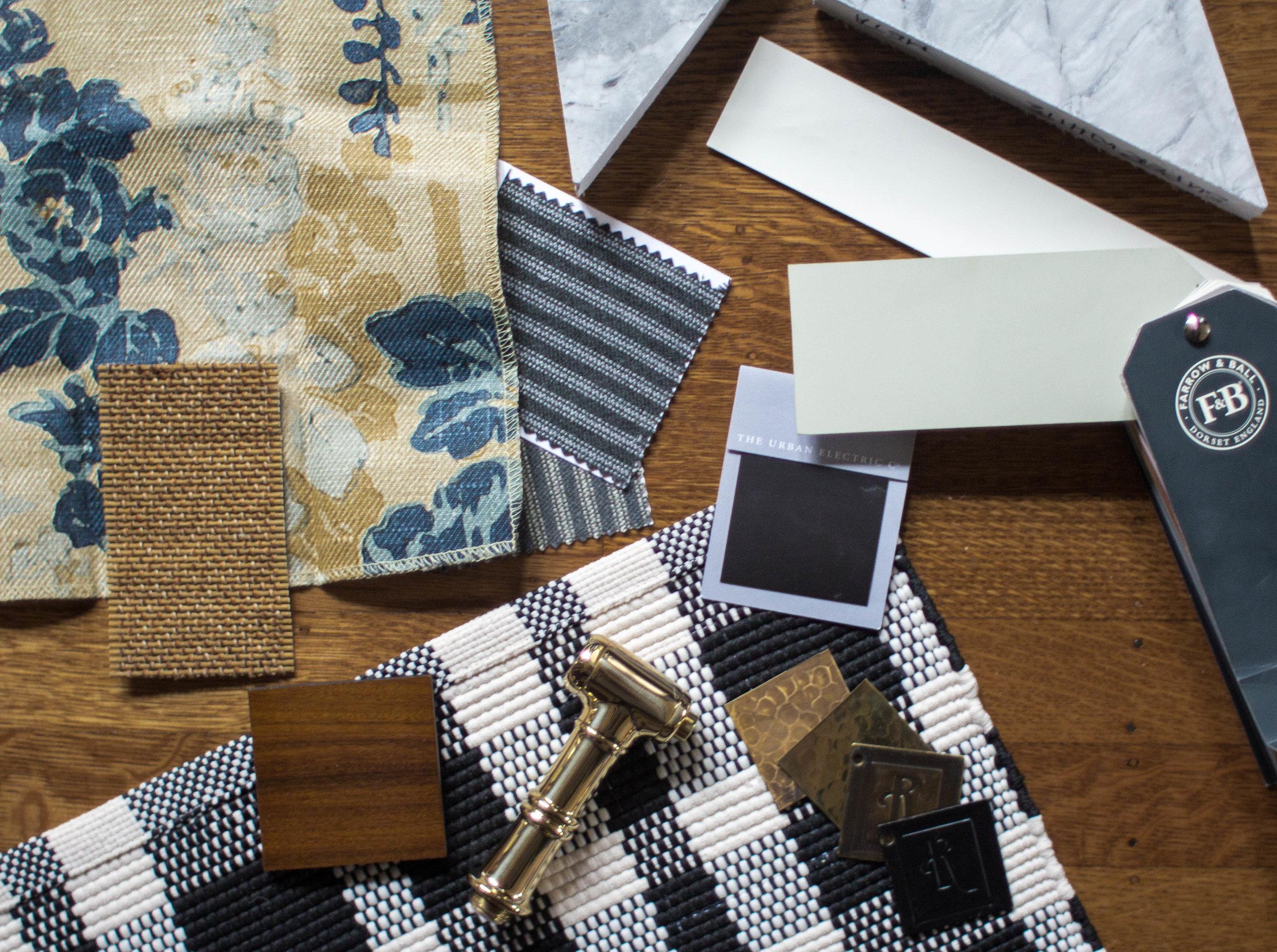 Kitchen Scheme - Textiles + Finishes