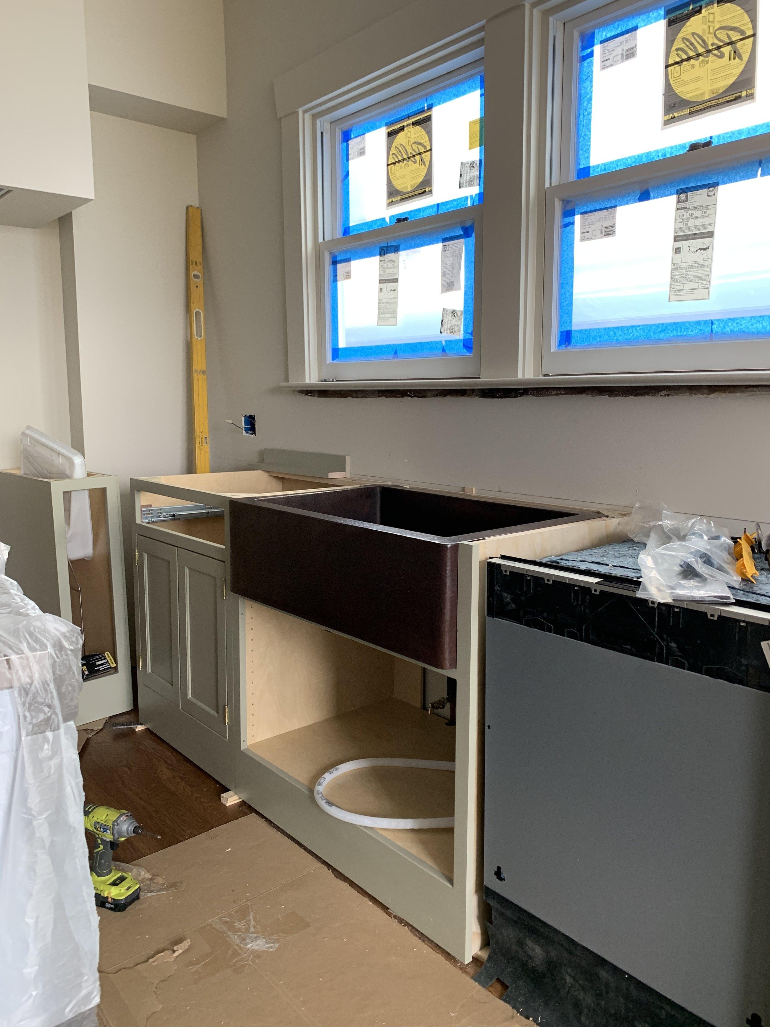 Our kitchen in progress