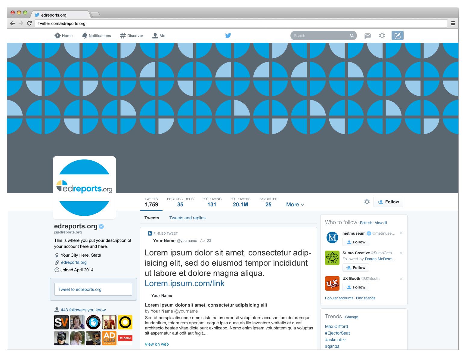 Sample Twitter Design