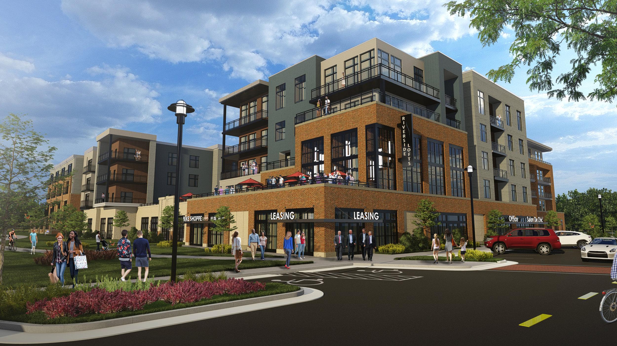 Apartment Building concept render.