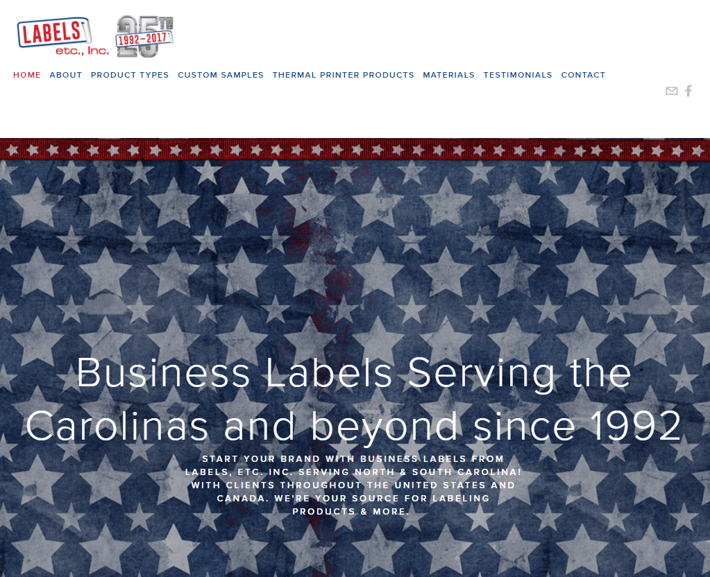 Labels Etc., Inc. website