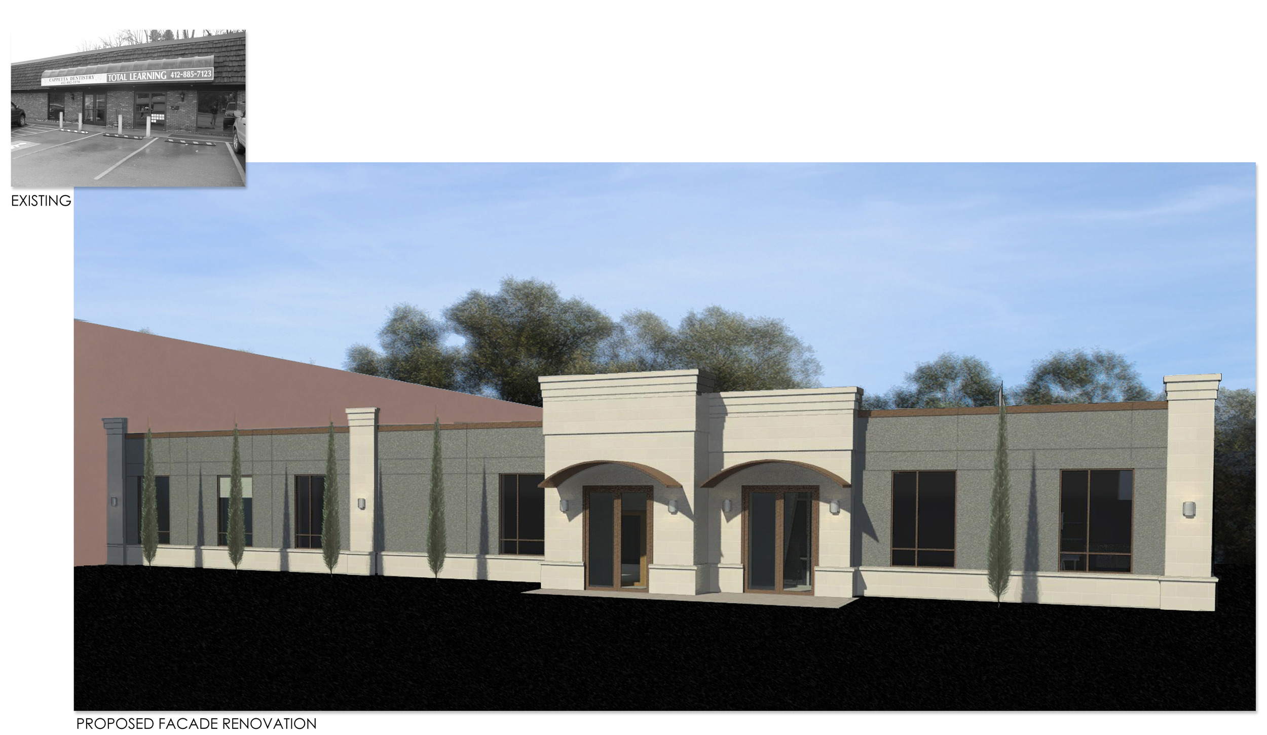PROCESS: Proposed facade renovation